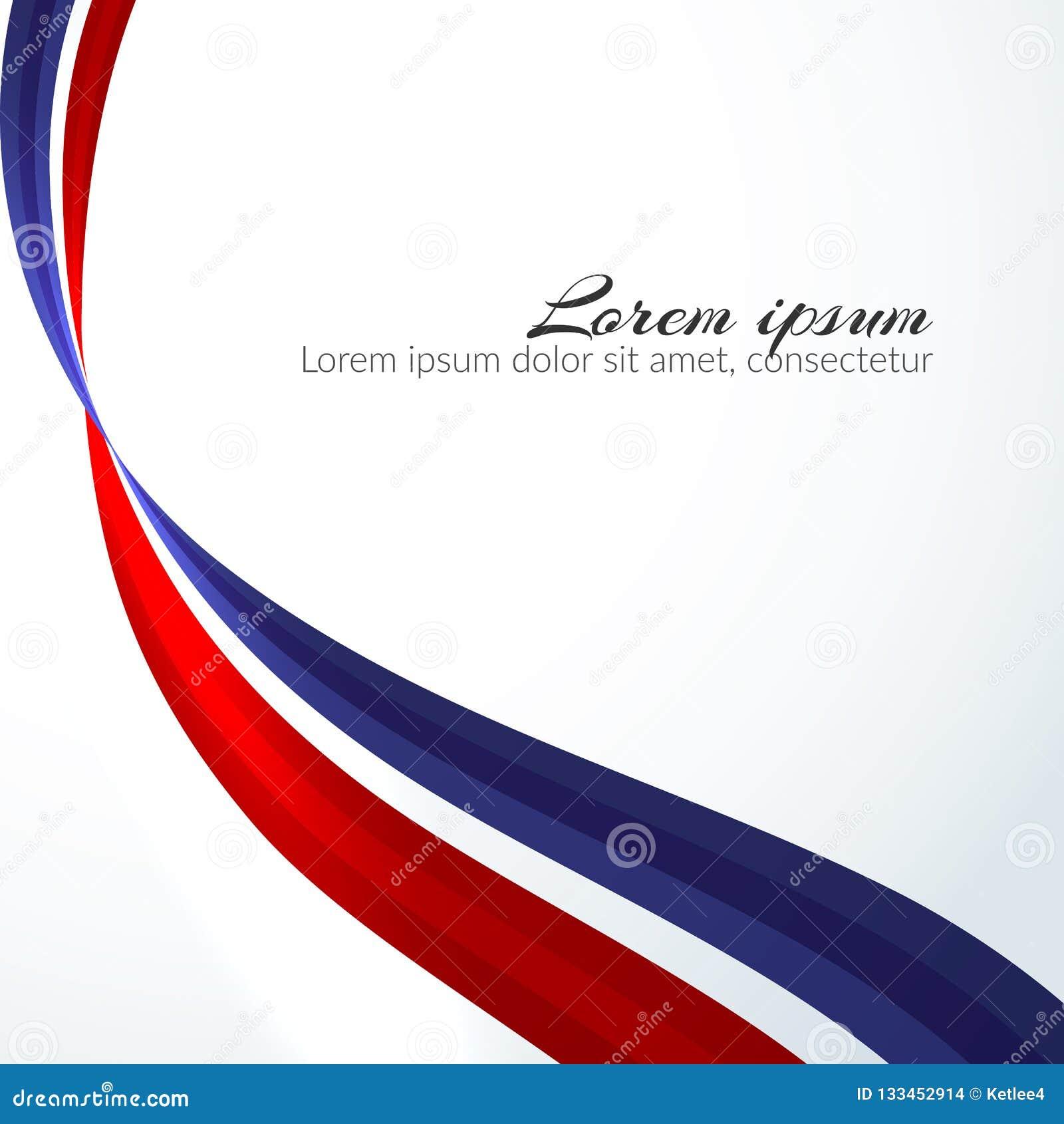 Fundo patriótico das cores da bandeira nacional de linhas onduladas abstratas de fluxo elemento de Rússia para o projeto da bande