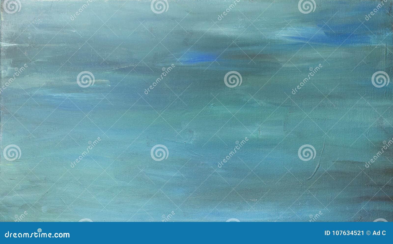 Fundo pintado à mão acrílico do sumário do azul de turquesa