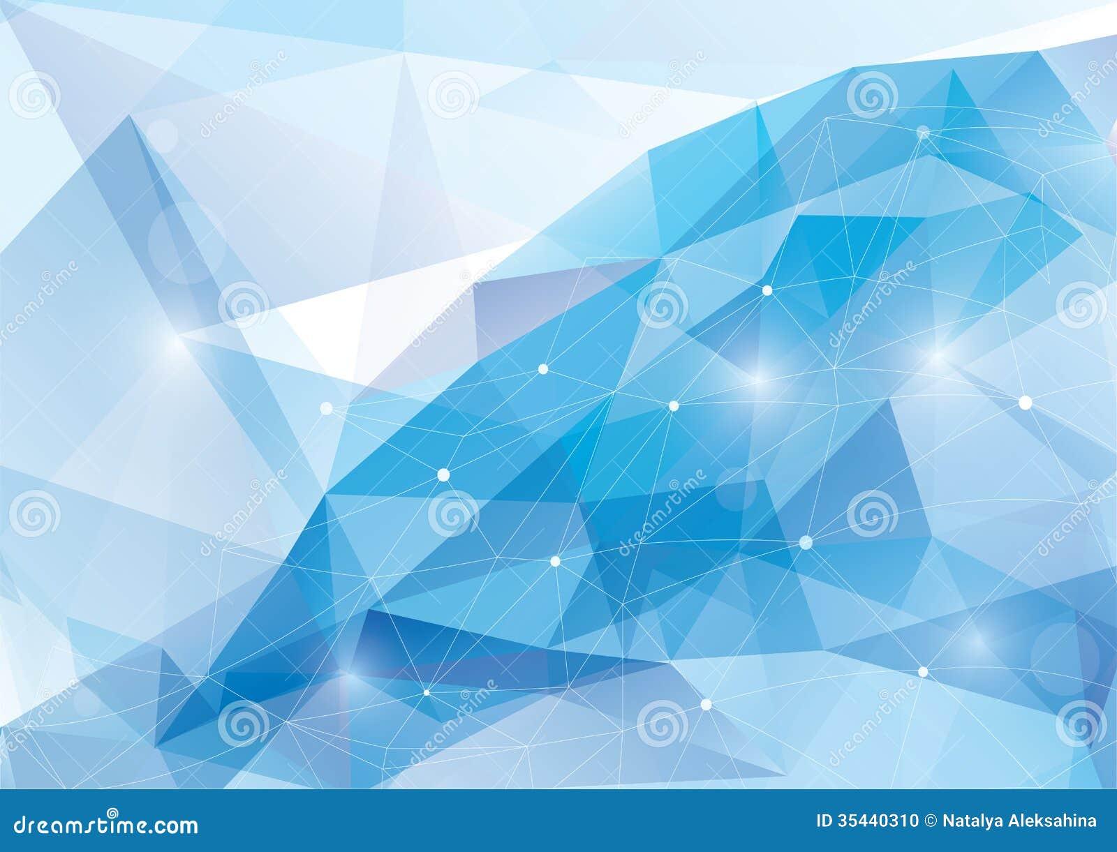 Fundo poligonal abstrato do vetor