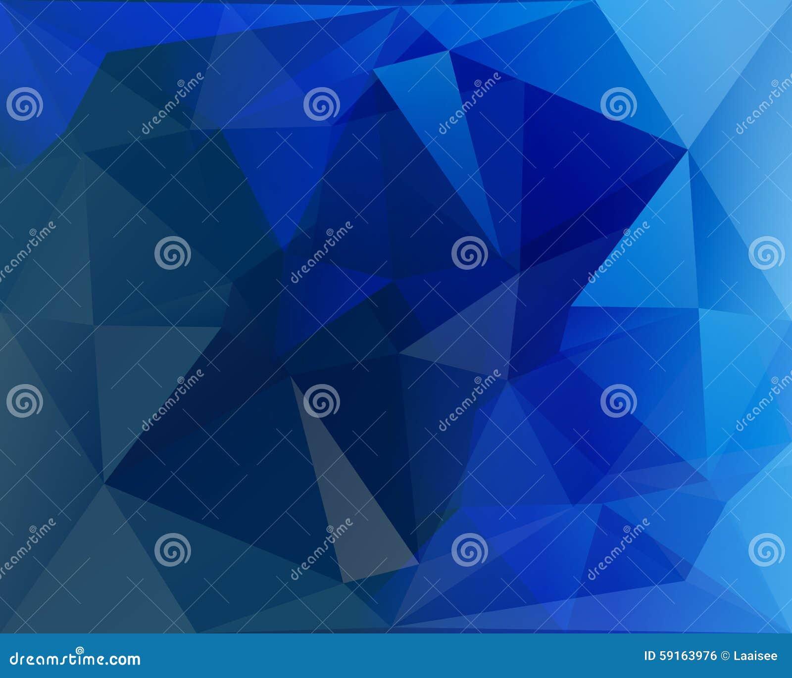 Fundo poligonal, azul, branco e turquesa do vetor do triângulo