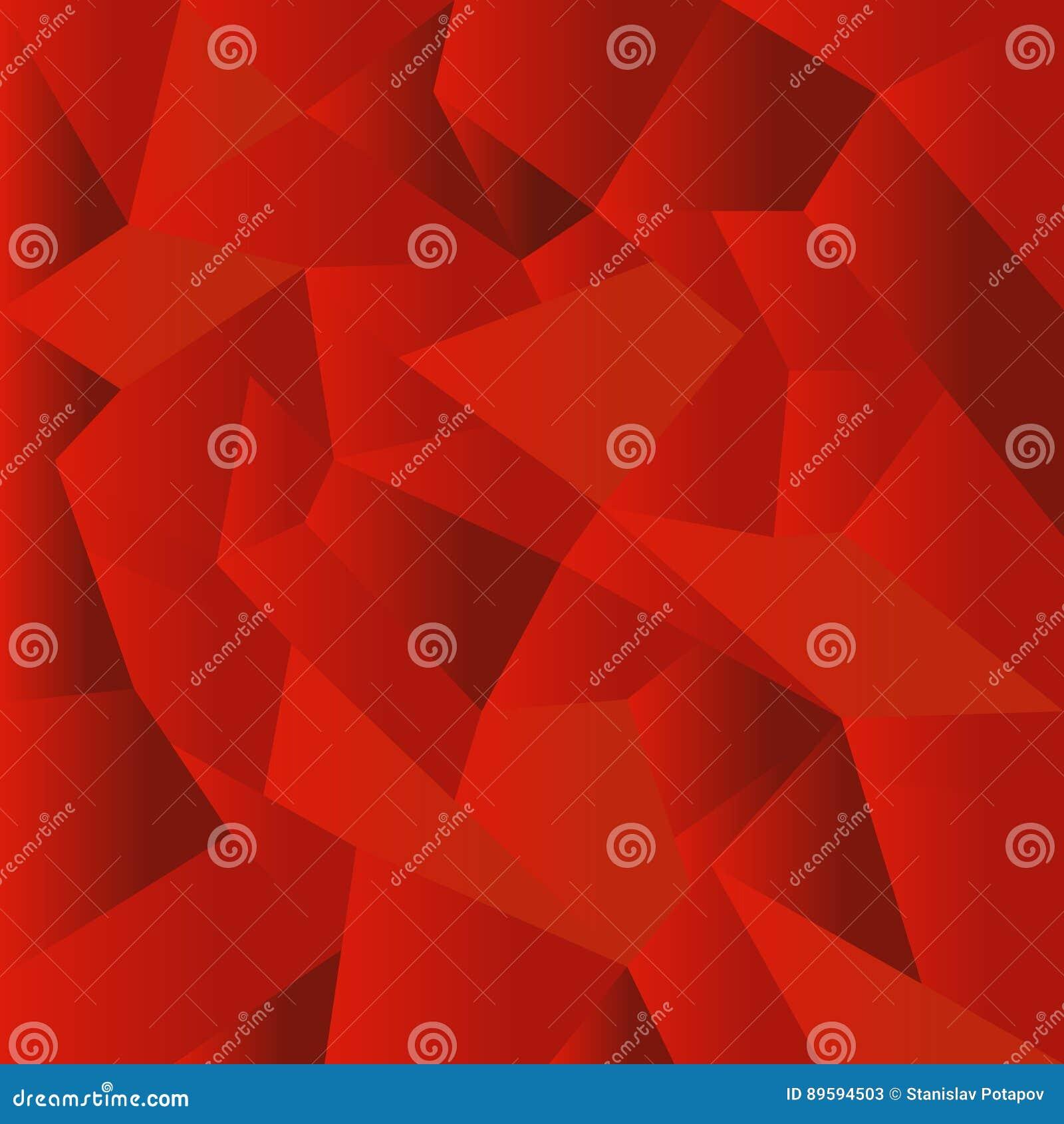 Fundo poligonal vermelho abstrato do mosaico