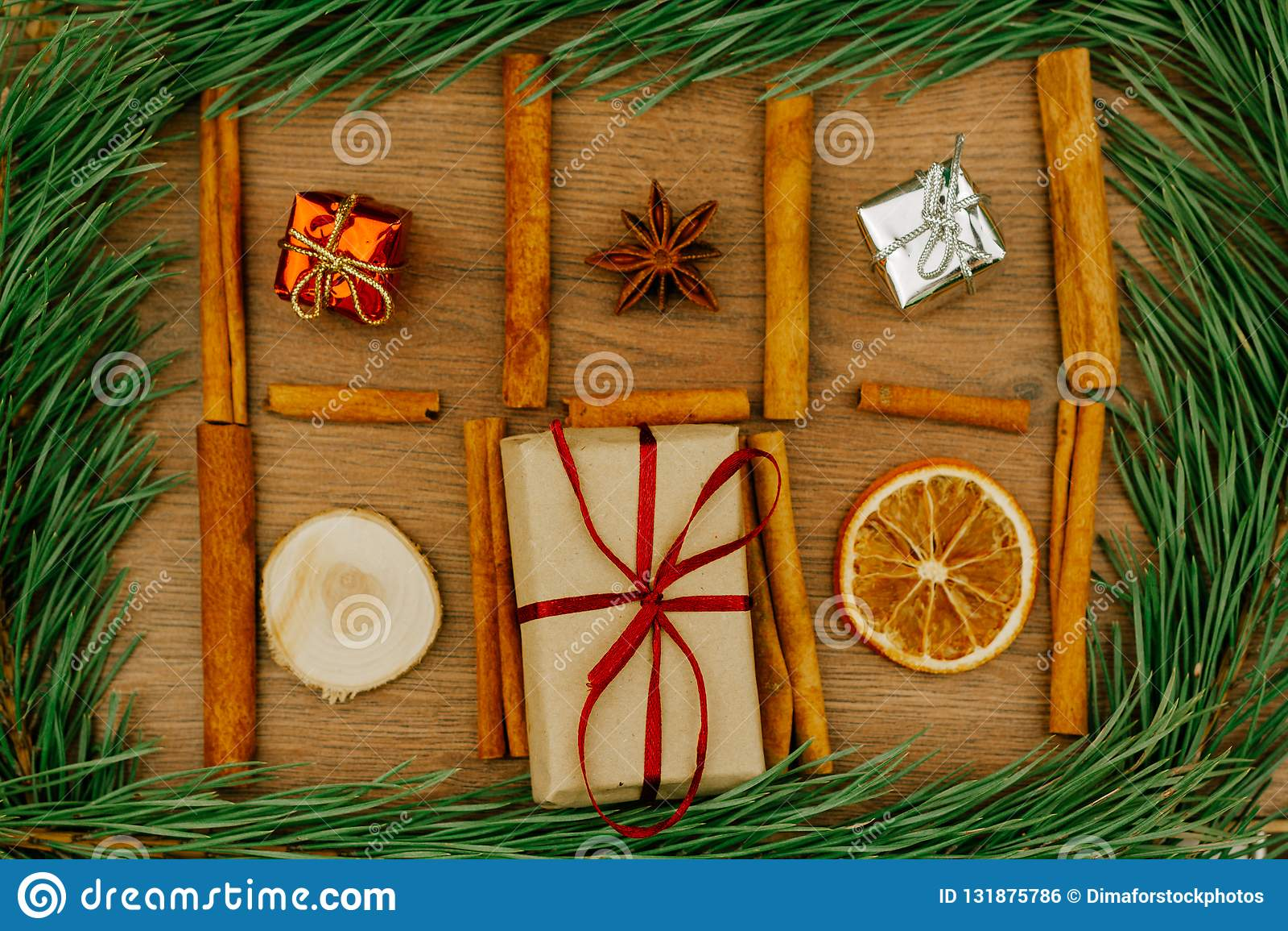 Fundo por o Natal e o ano novo Conceito do feriado