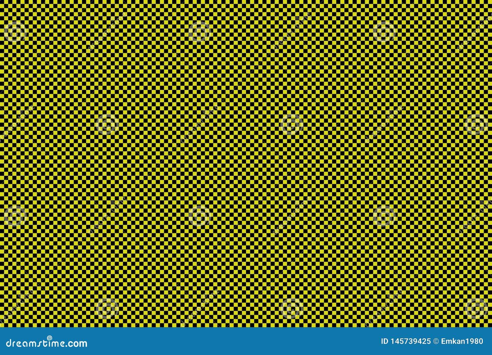 Fundo preto e amarelo do tabuleiro de damas - ilustration do vetor - EPS 10