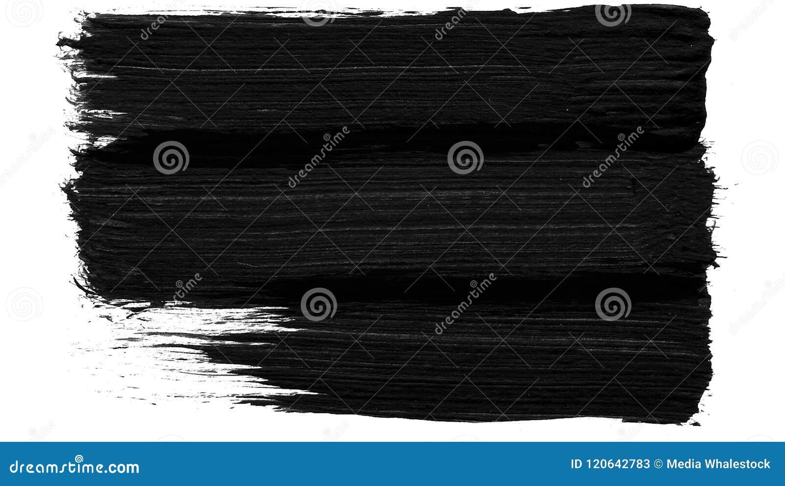 Fundo preto e branco da transição do curso da escova Animação do respingo da pintura Fundo abstrato para o anúncio e