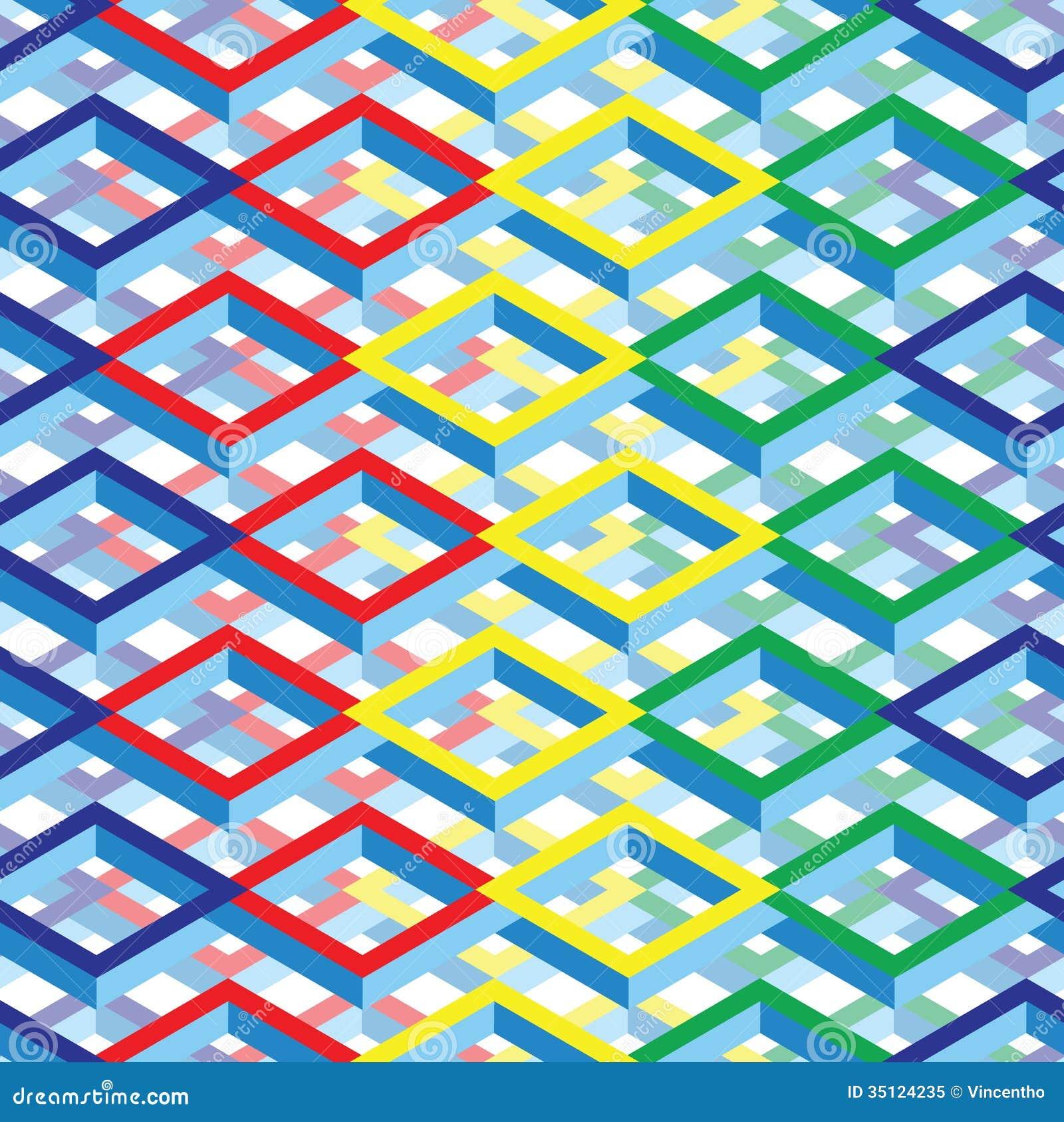 Fundo quadrado isométrico colorido futurista