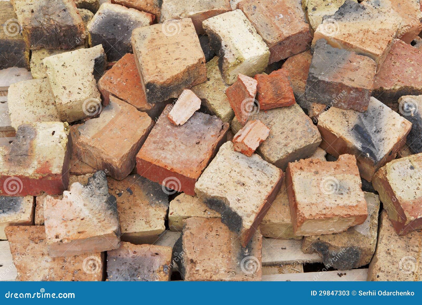 Fundo quebrado dos tijolos