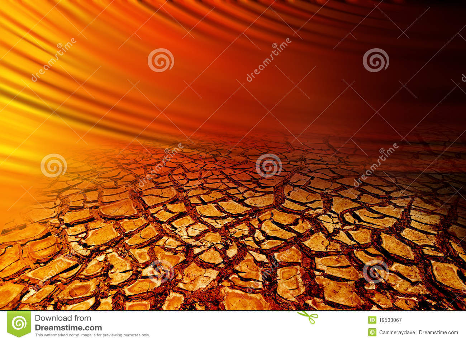 Fundo rachado seco