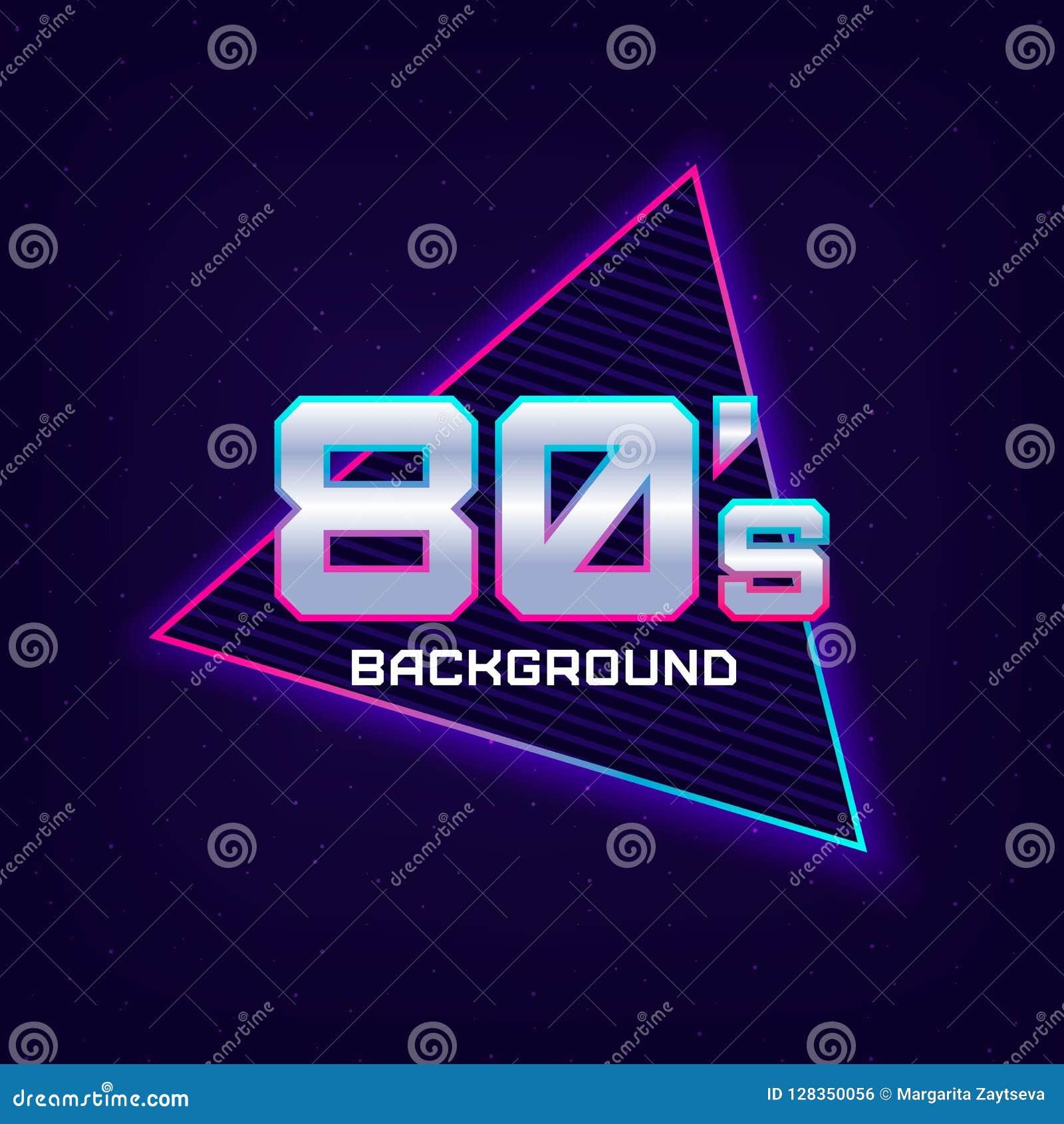 Fundo retro da ficção científica 80s