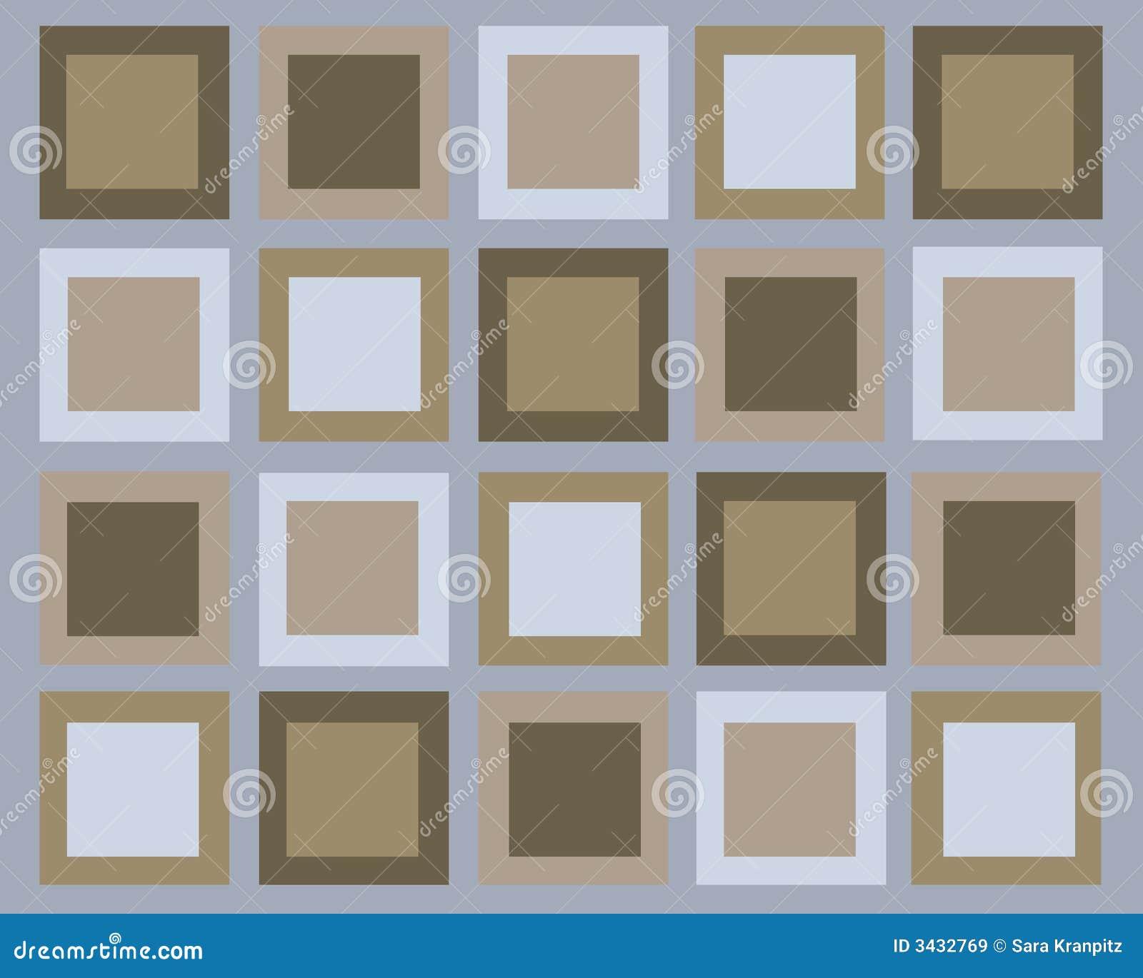 Fundo retro dos quadrados