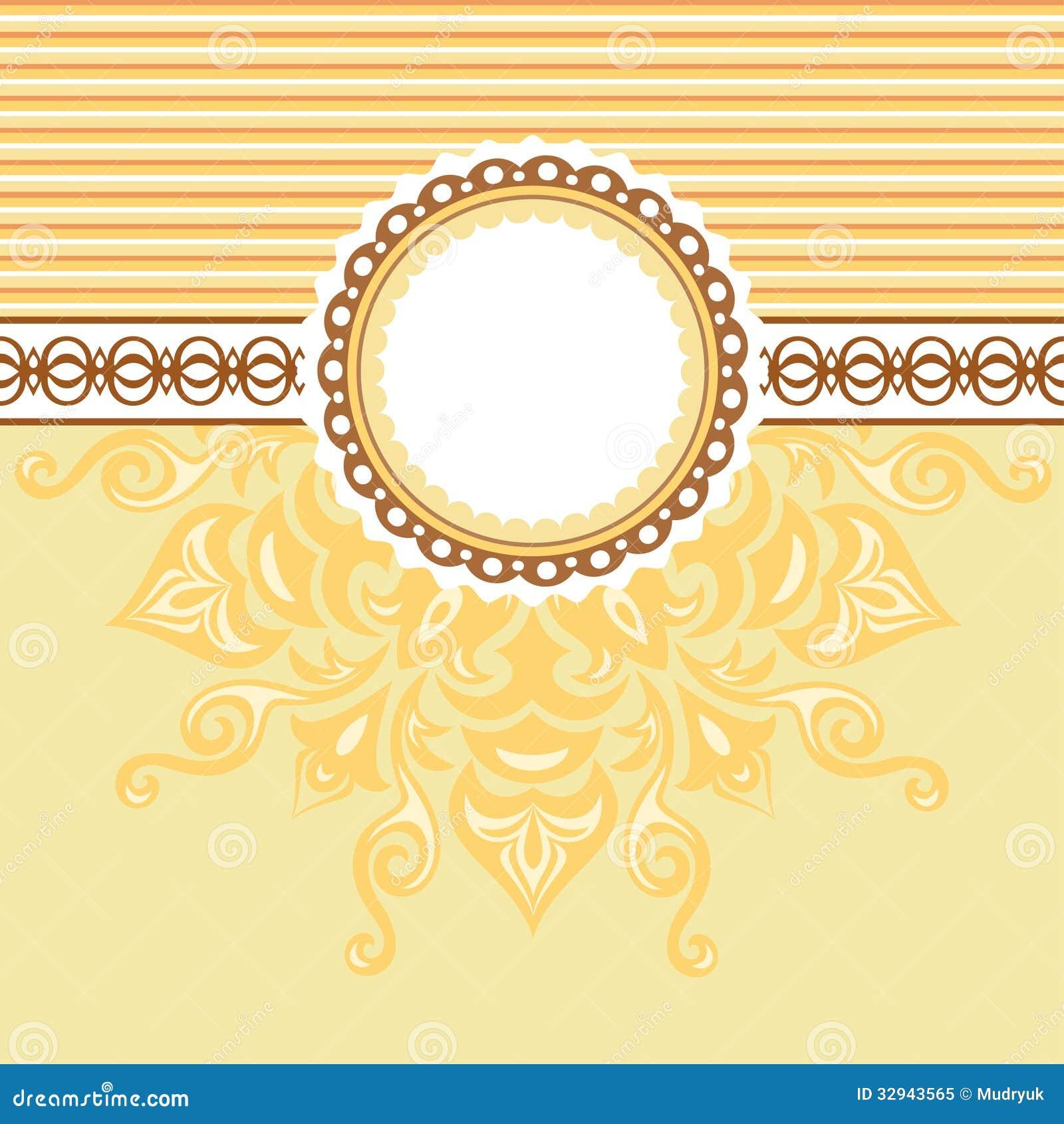 Fundo Romântico Com Teste Padrão E Etiqueta. Bege E Amarelo Foto de  #93470C 1300x1390 Banheiro Amarelo E Bege