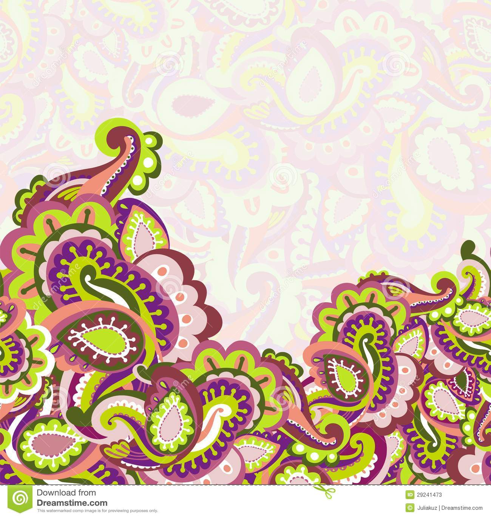Download Fundo Sem Emenda Colorido De Paisley Ilustração do Vetor - Ilustração de ilustração, east: 29241473