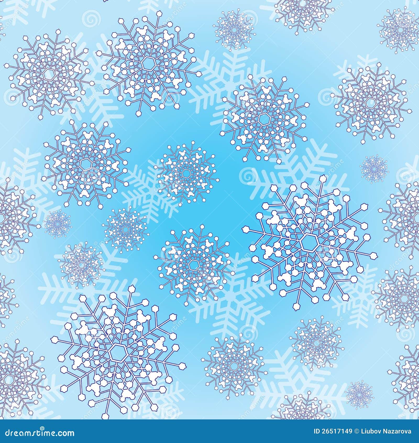 Fundo sem emenda com flocos de neve