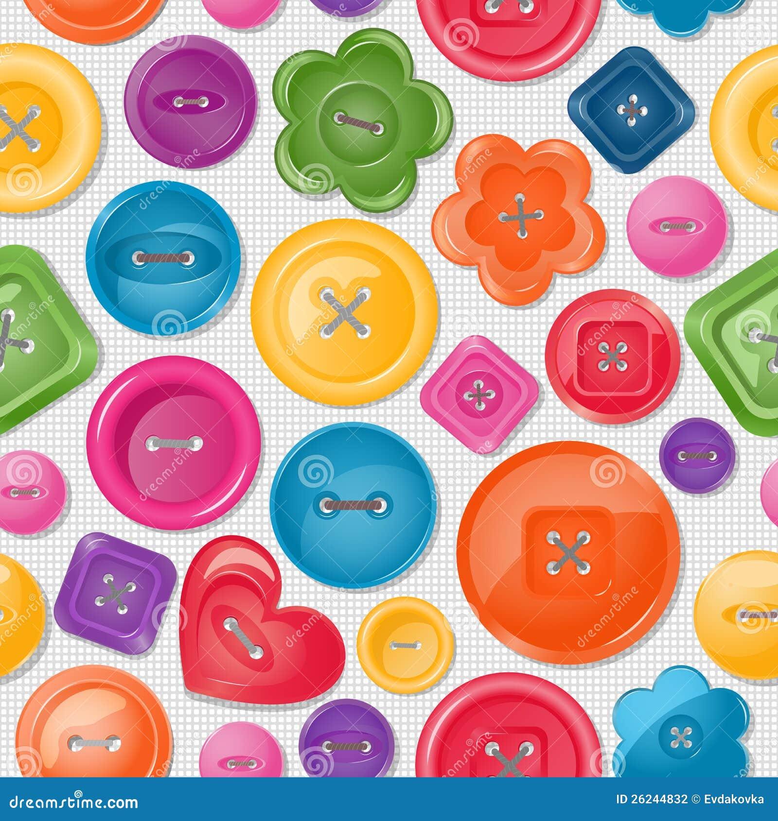 Fundo sem emenda com teclas coloridas