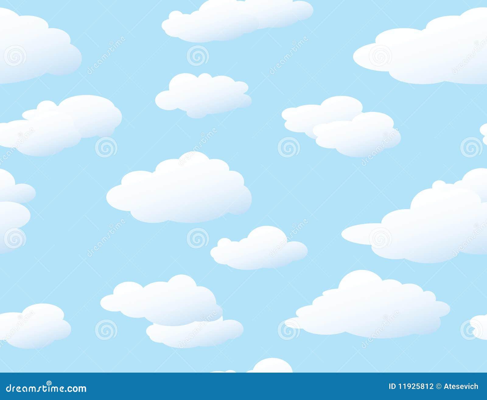 Fundo sem emenda das nuvens