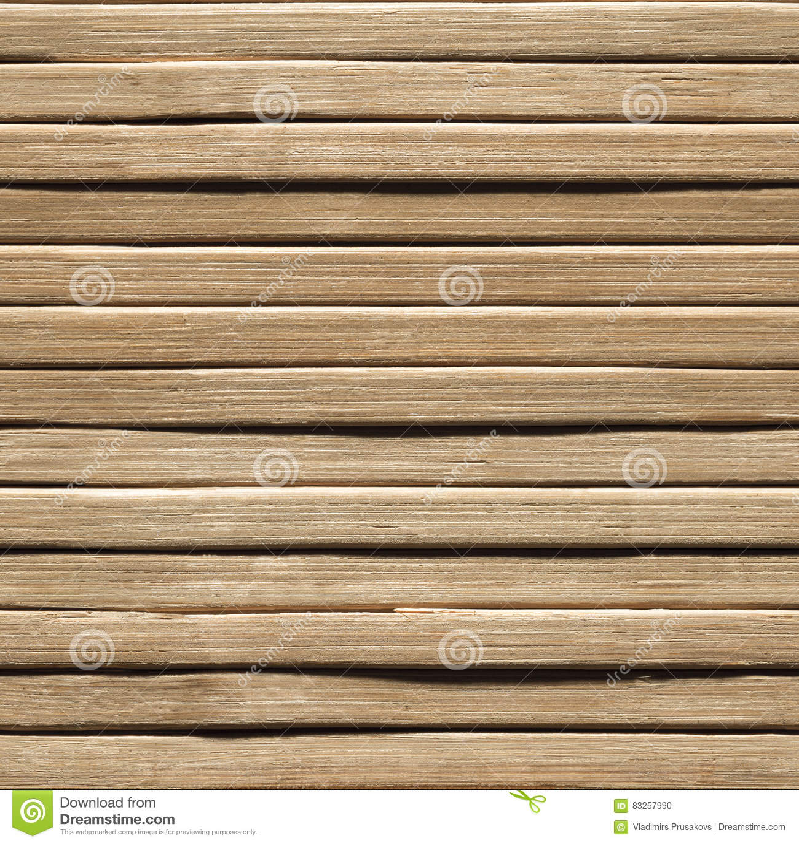 Fundo sem emenda de madeira, textura de madeira de bambu da prancha, parede das pranchas