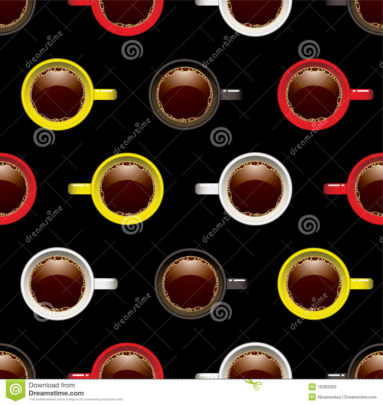 Fundo sem emenda do copo de café