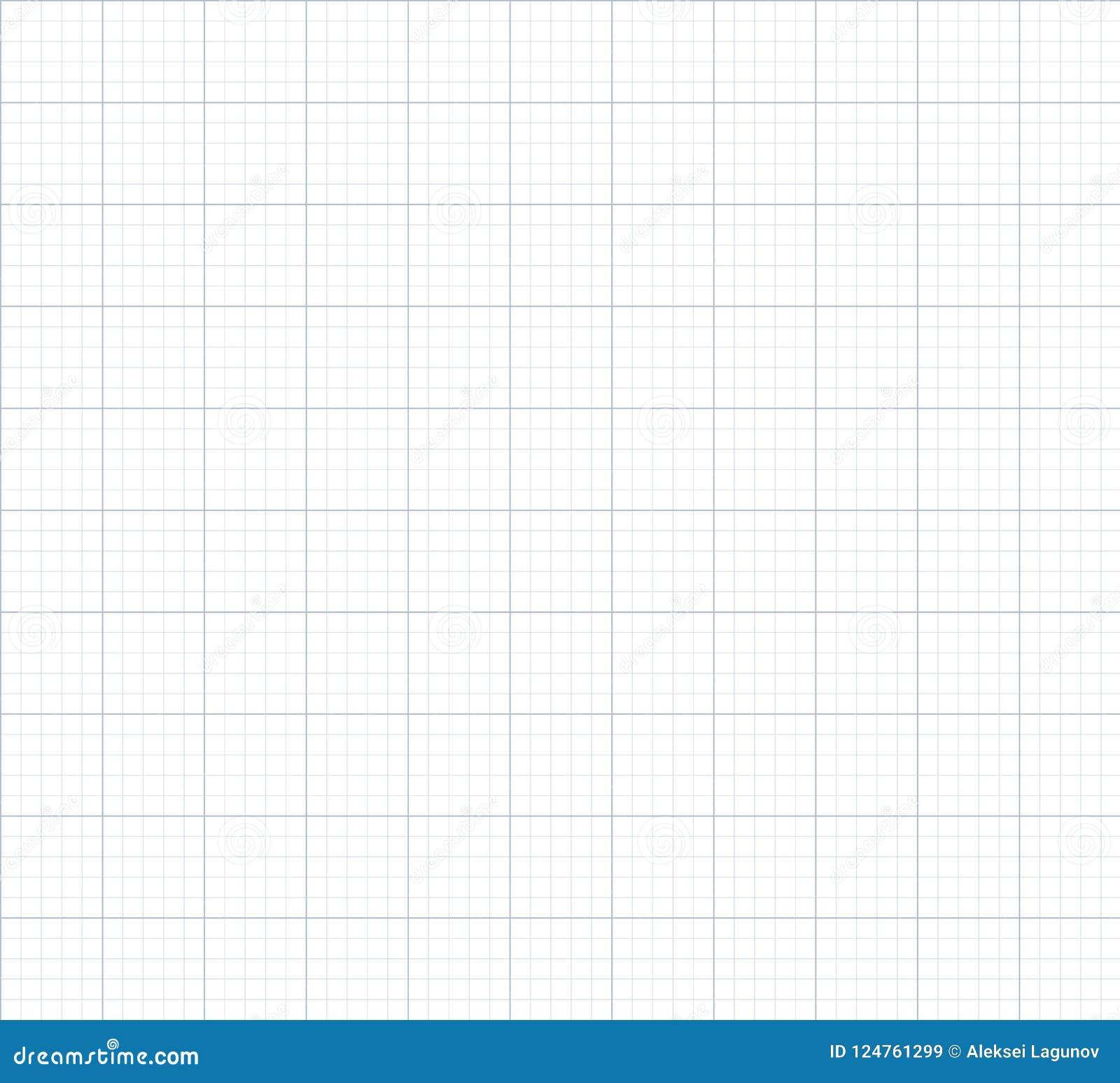 Fundo sem emenda do papel de gráfico do vetor
