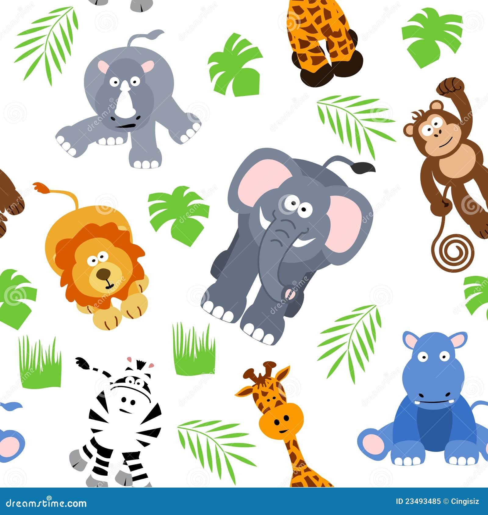 Fundo sem emenda do safari ilustração stock. Imagem de ...