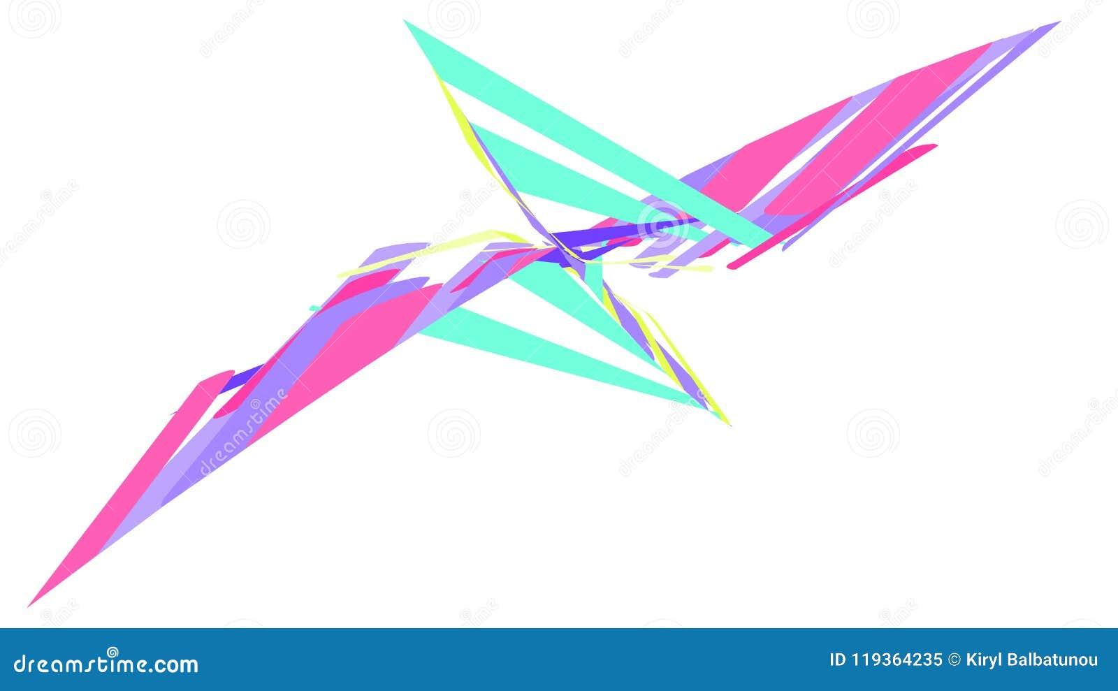 Fundo simples de uma figura geométrica brilhante colorido bonita abstrata minimalistic sob a forma de uma borboleta, flor, bi