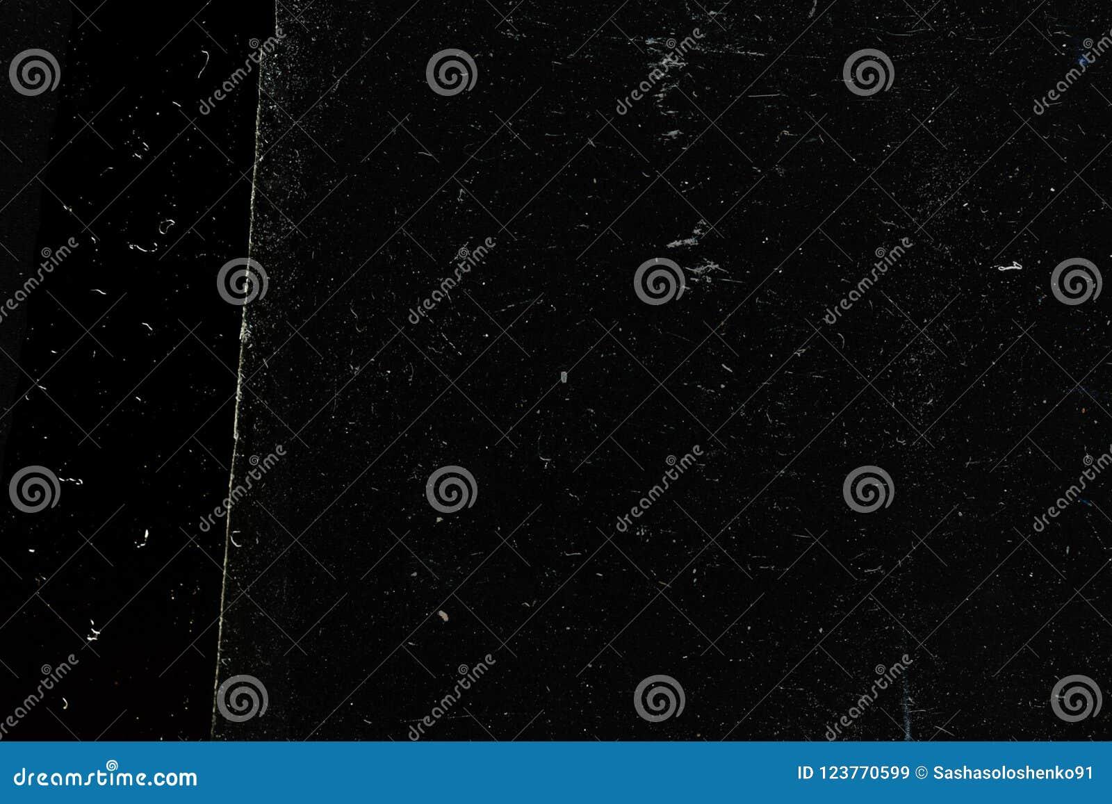 Fundo-textura preta abstrata do grunge, superfície velha vestida