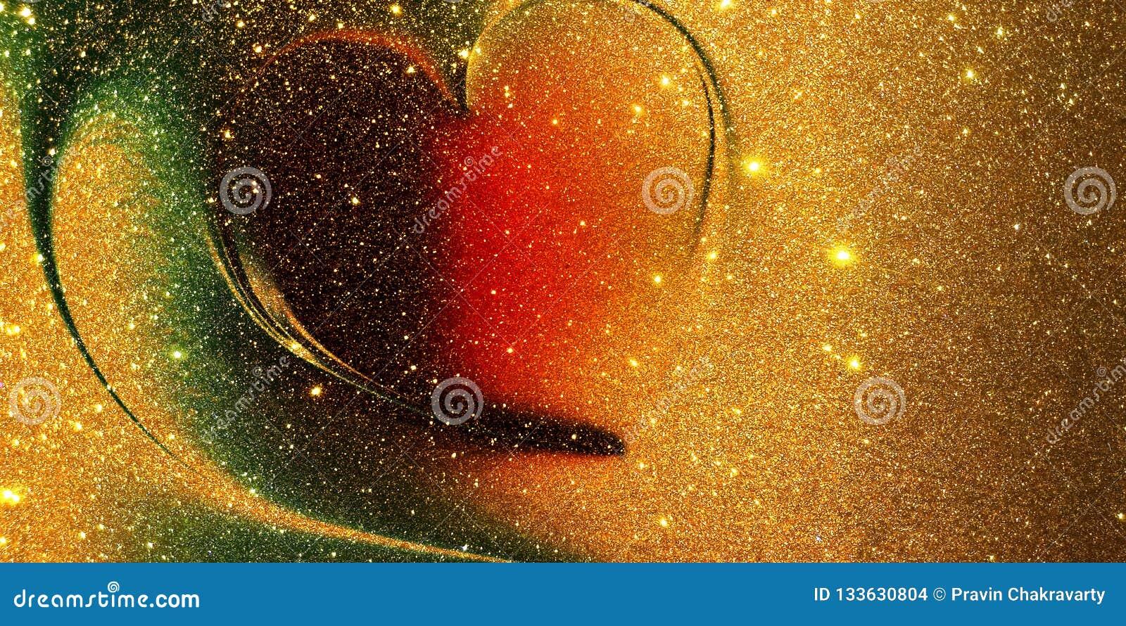 Fundo textured coração do brilho