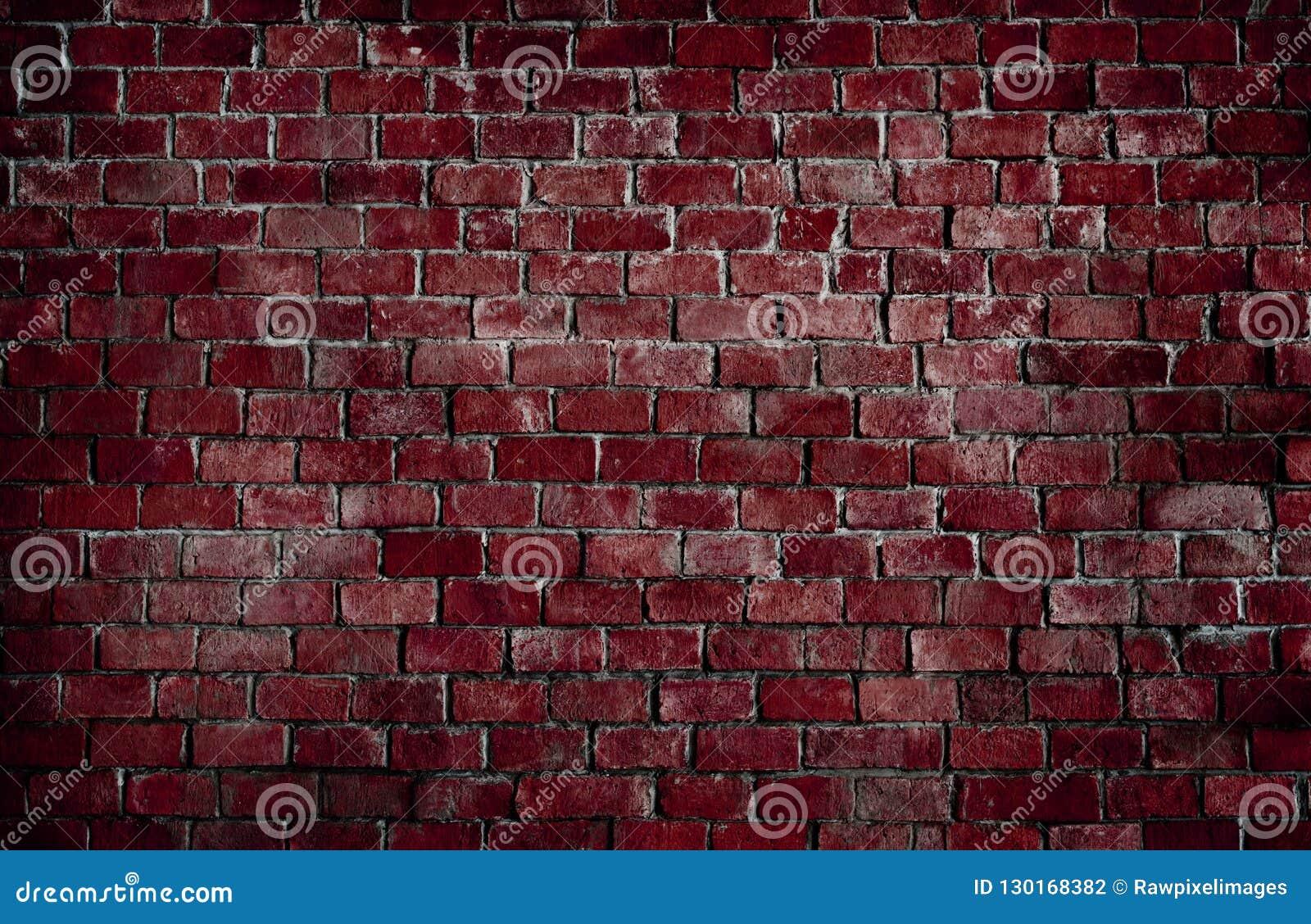 Fundo textured vermelho da parede de tijolo