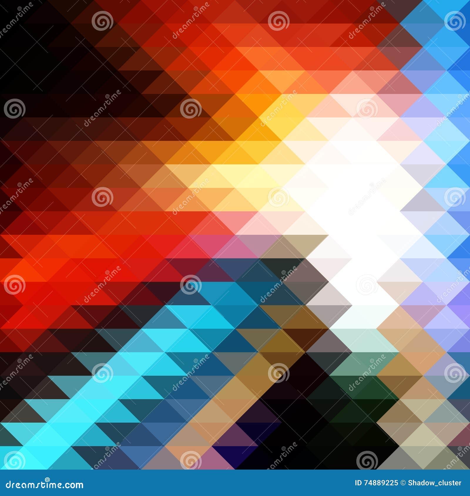 Fundo triangular do mosaico