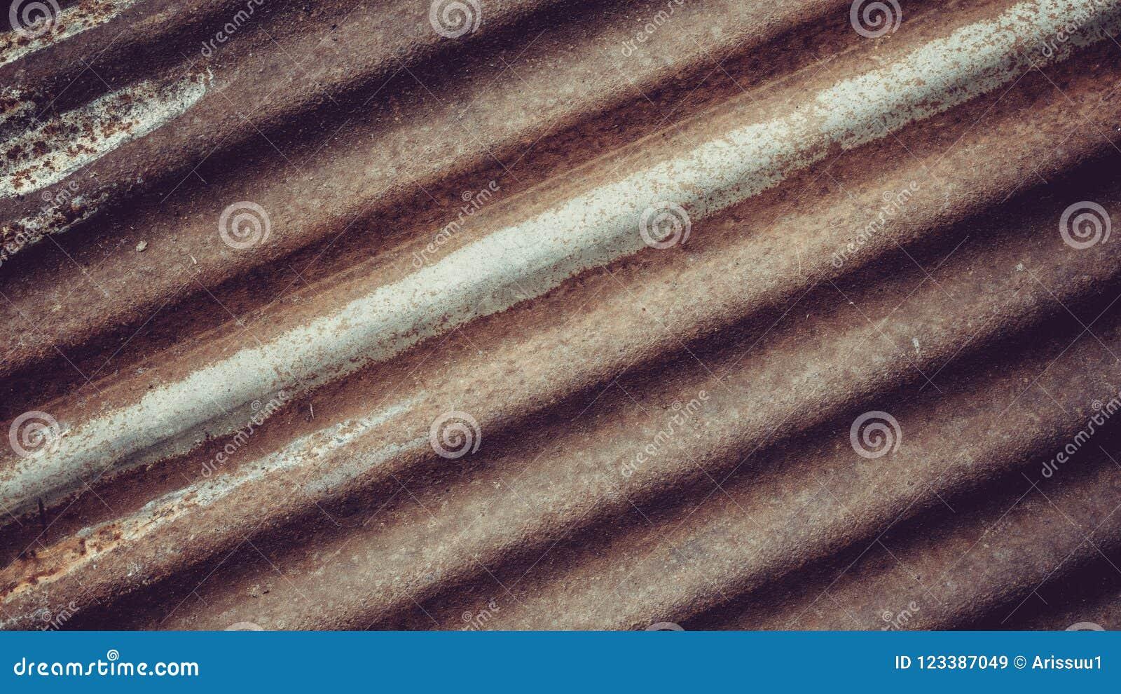 Fundo velho da textura do zinco da oxidação