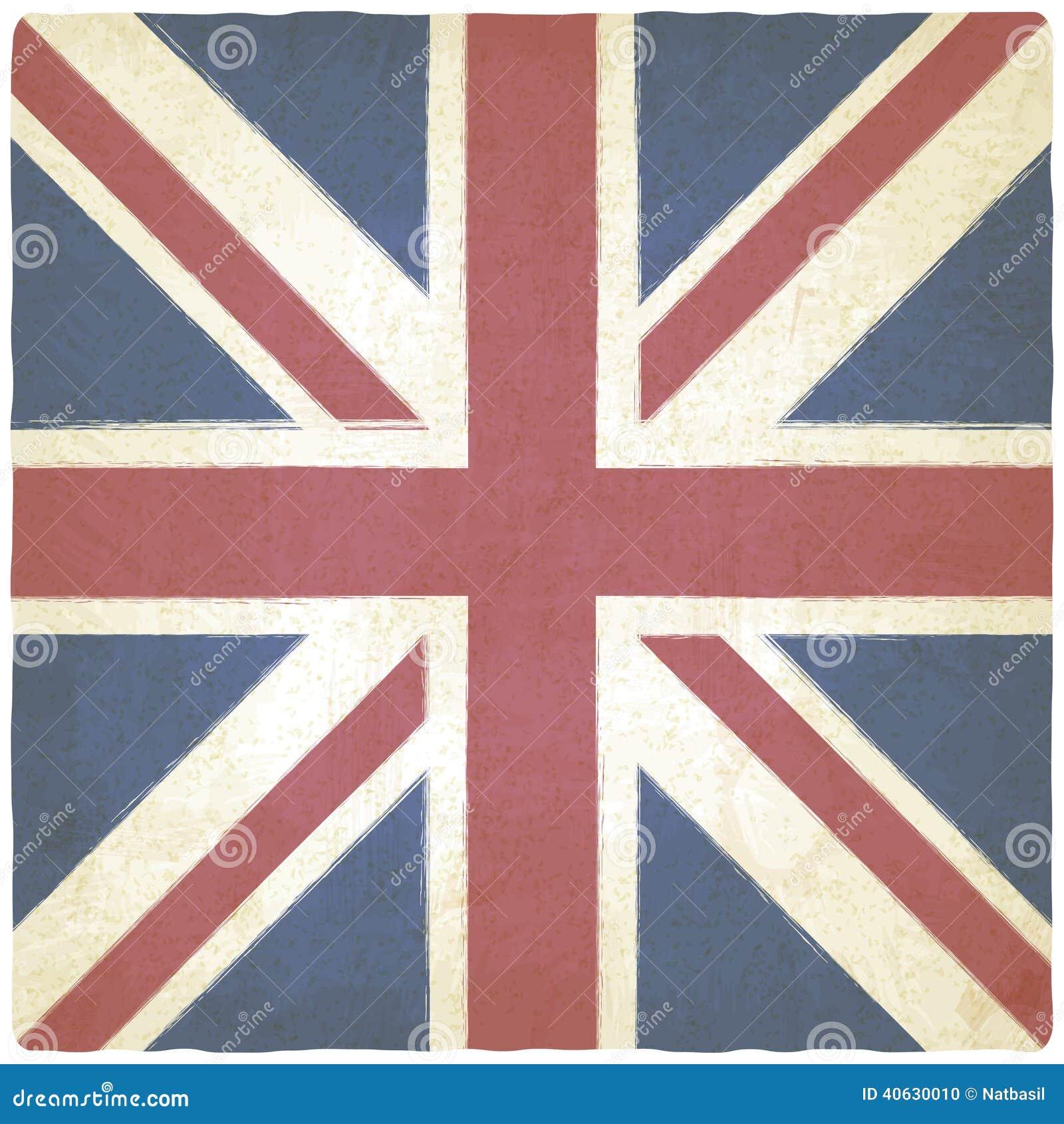 Fundo velho de Union Jack