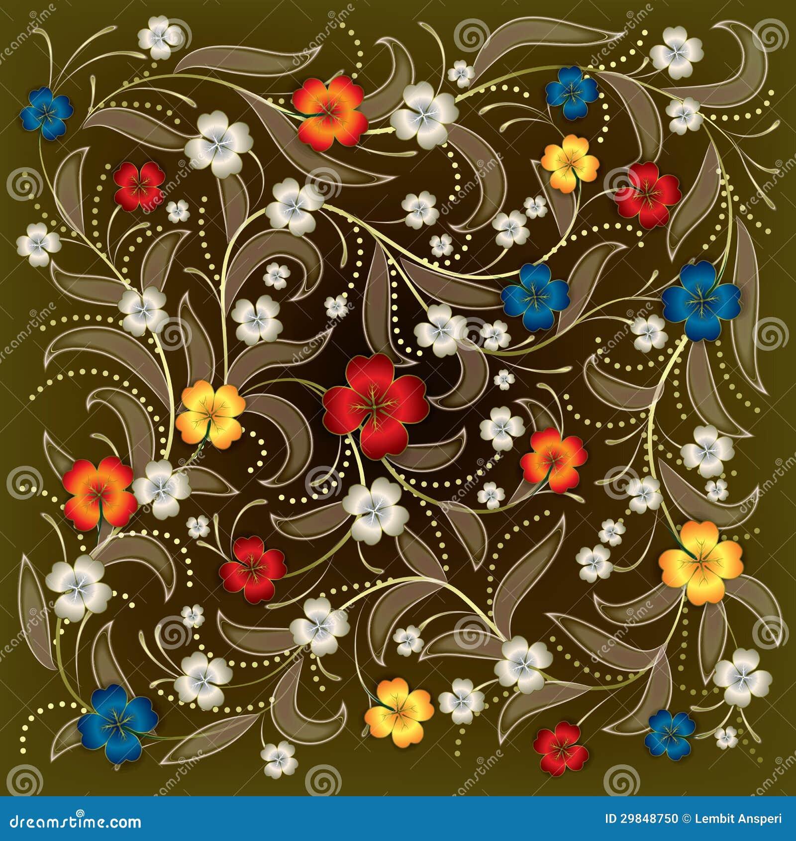 Fundo abstrato com ornamento floral