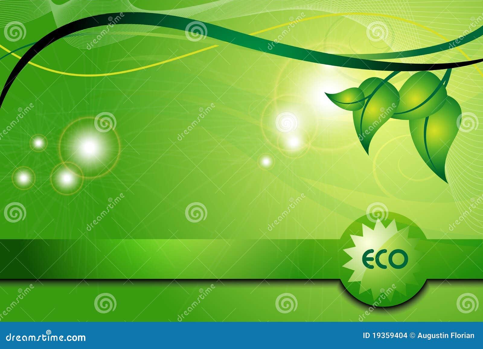 Fundo verde da ecologia