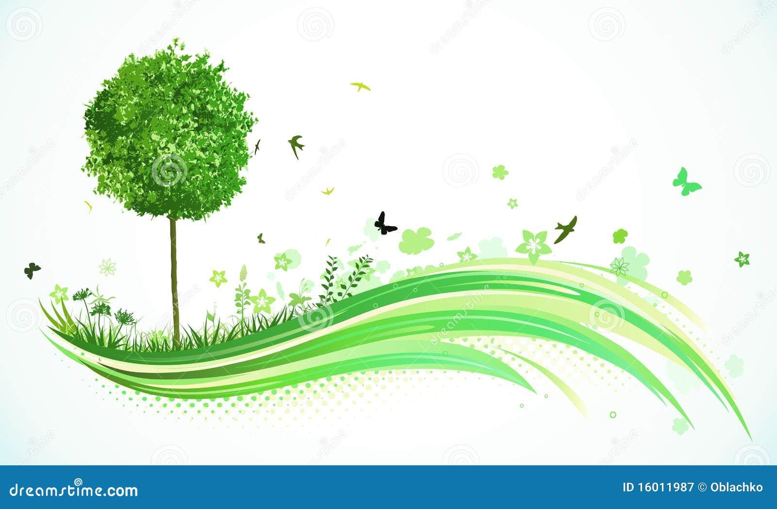 Fundo verde de Eco