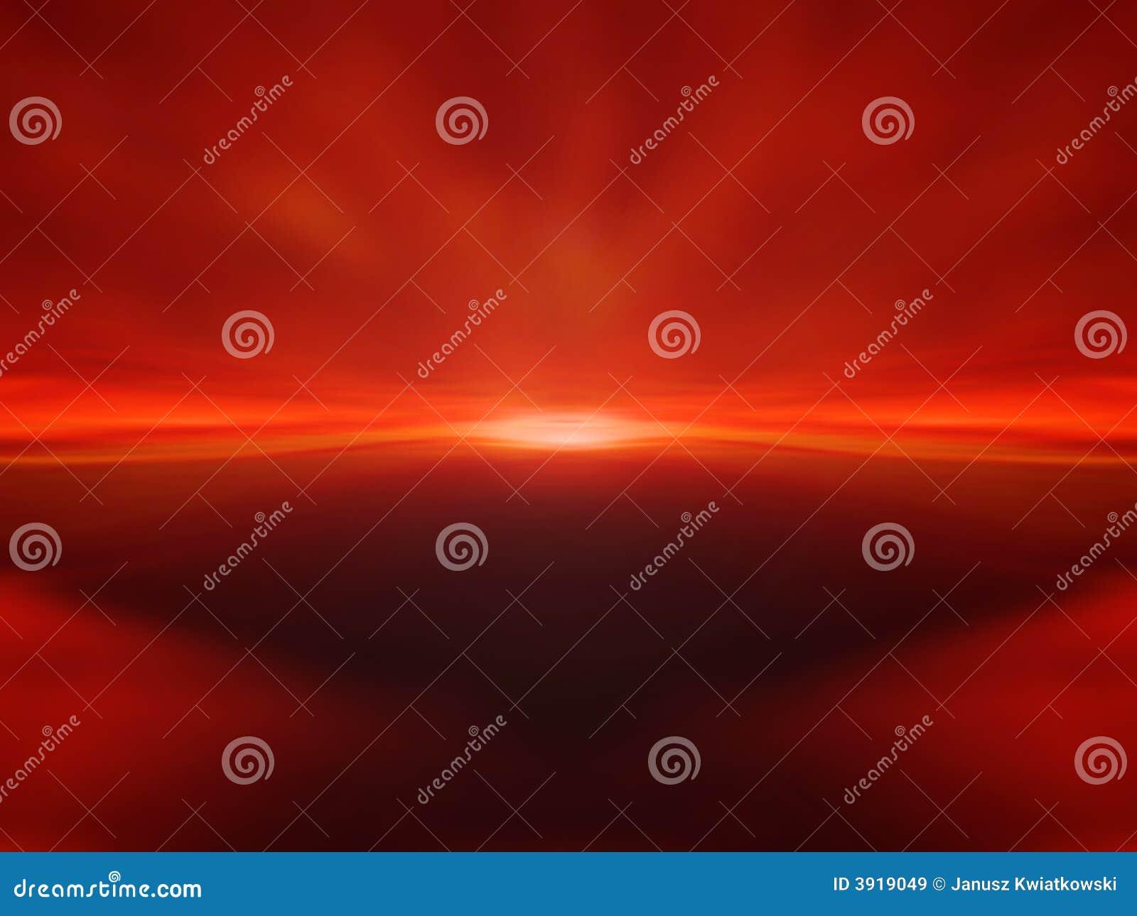 Fundo vermelho do por do sol