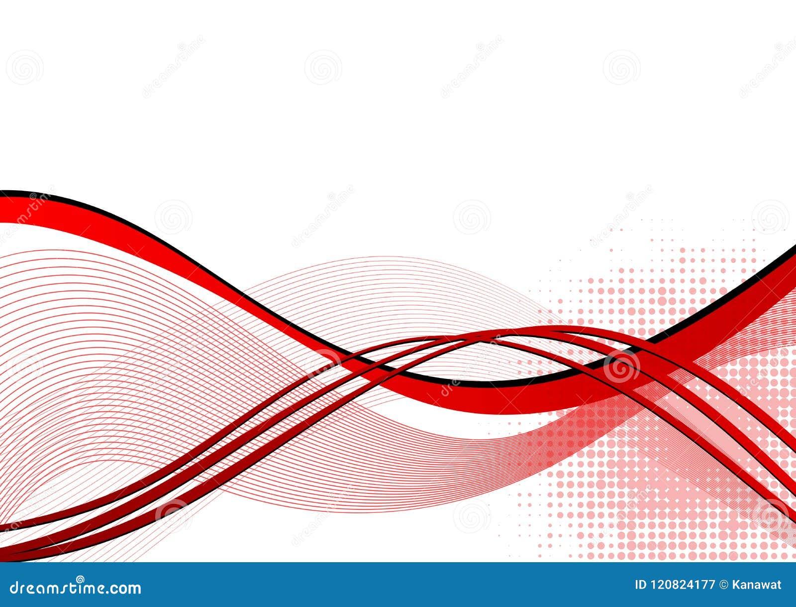 Fundo vermelho do sumário da onda com espaço da cópia Ilustração do vetor