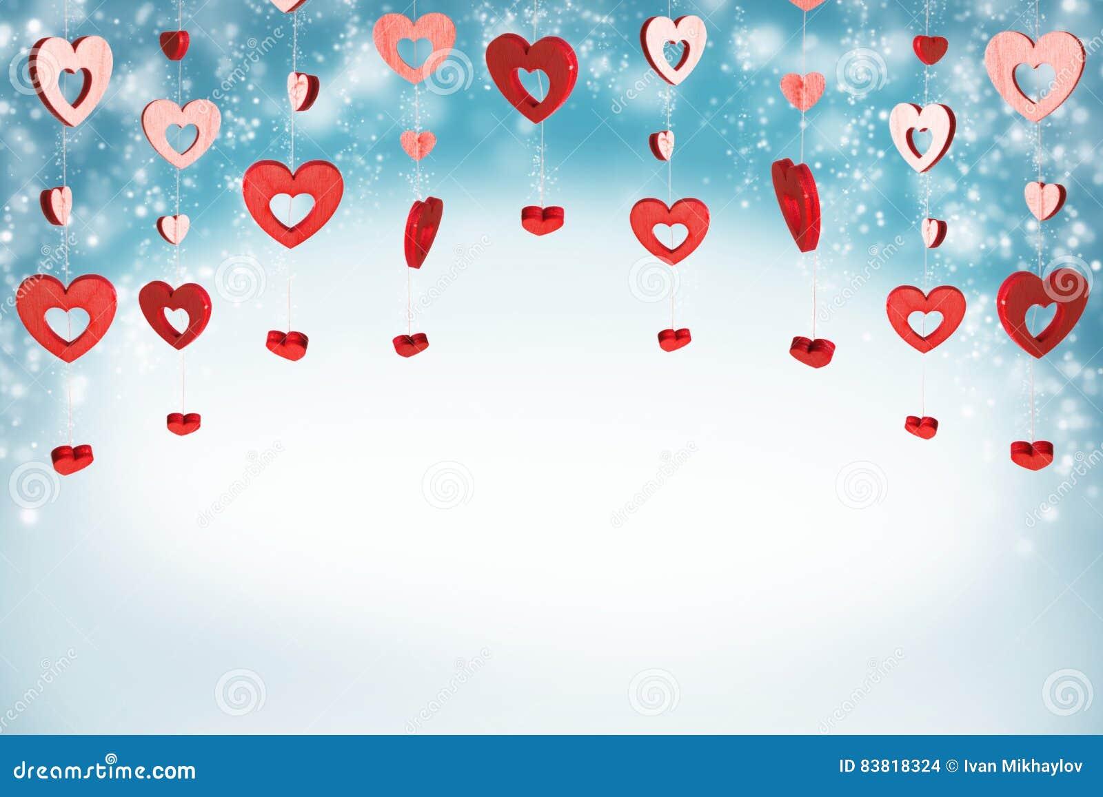 Fundo vermelho dos corações