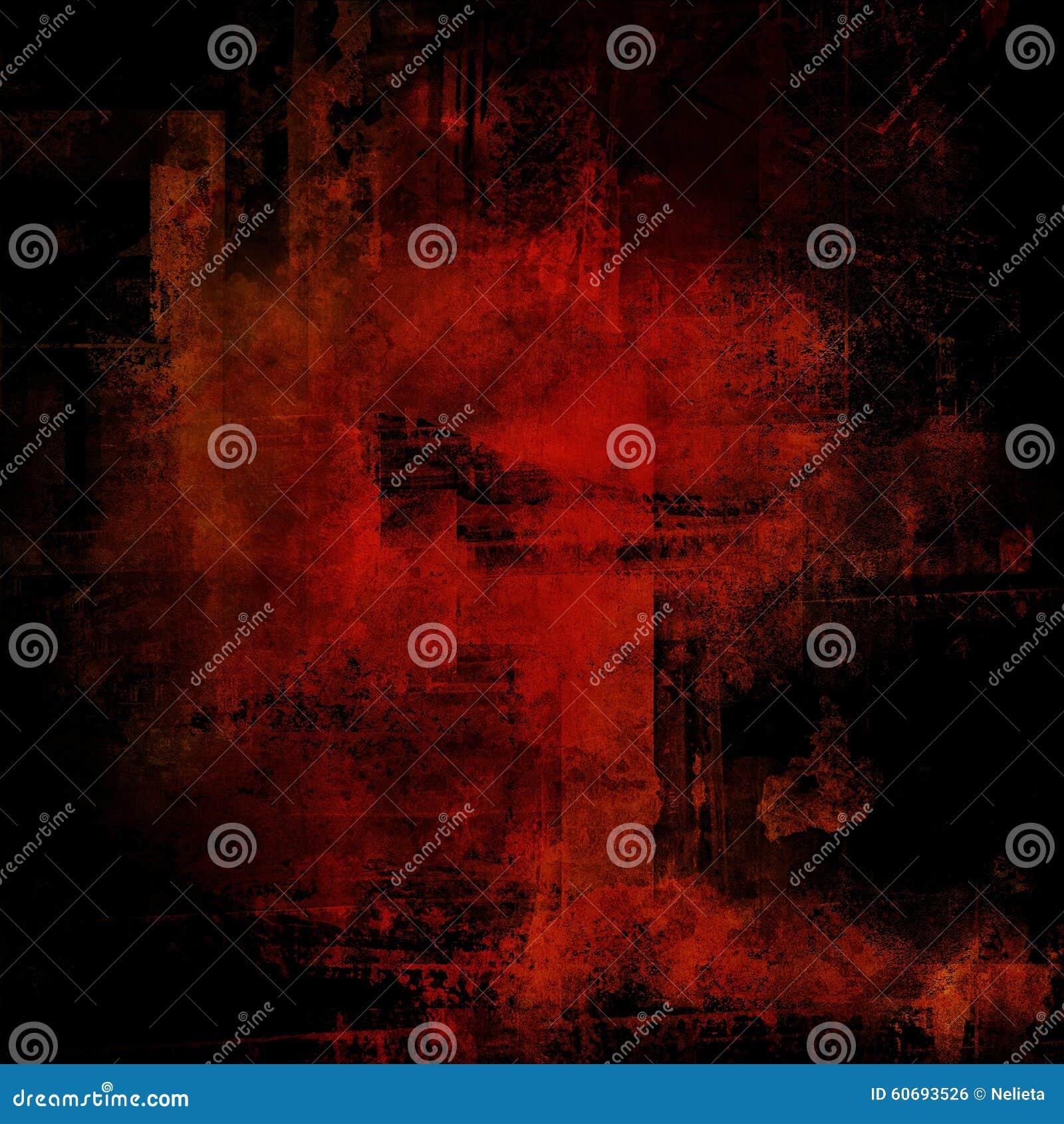 Fundo vermelho e preto do Grunge
