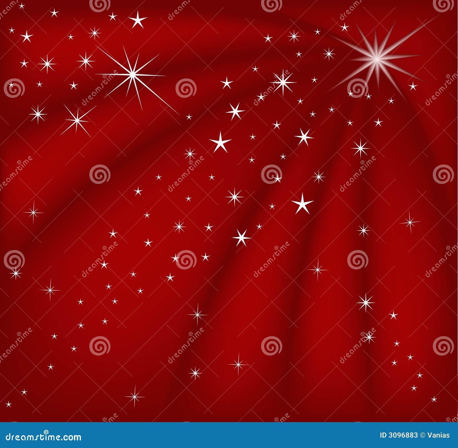 Fundo vermelho mágico do Natal