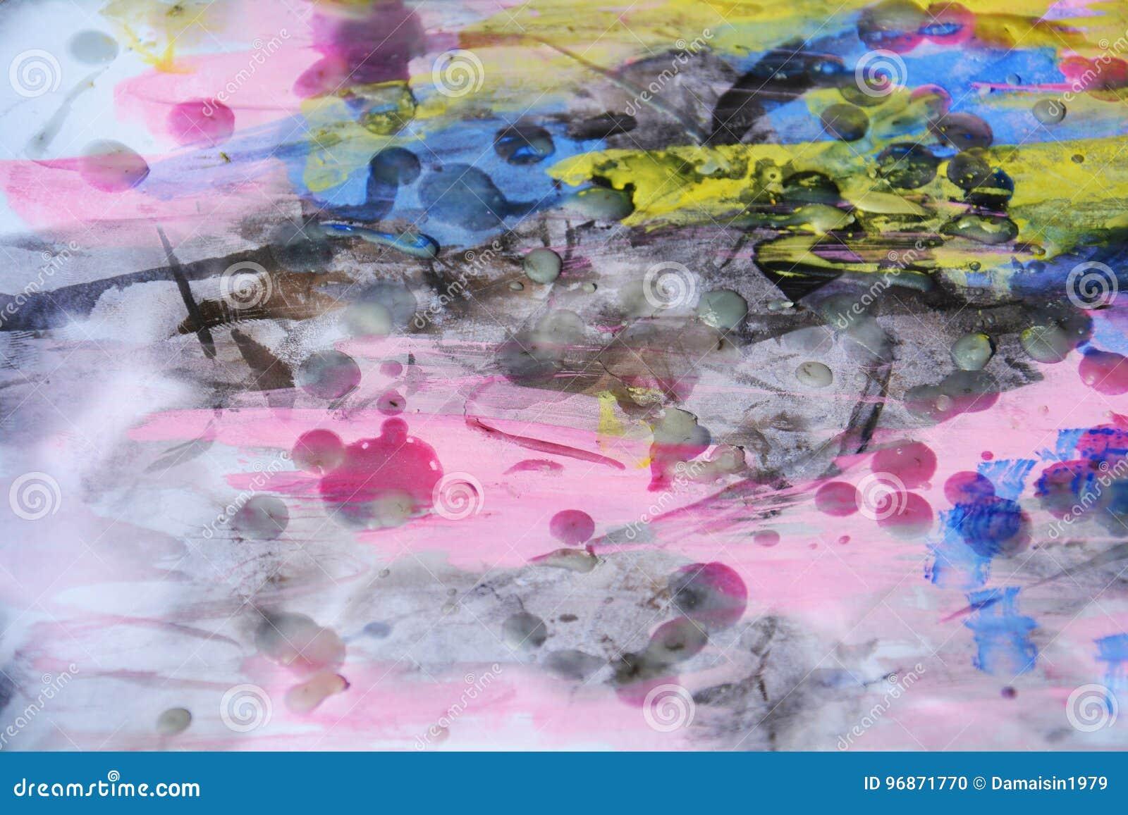 Fundo violeta ceroso do sumário da aquarela em matiz vívidas