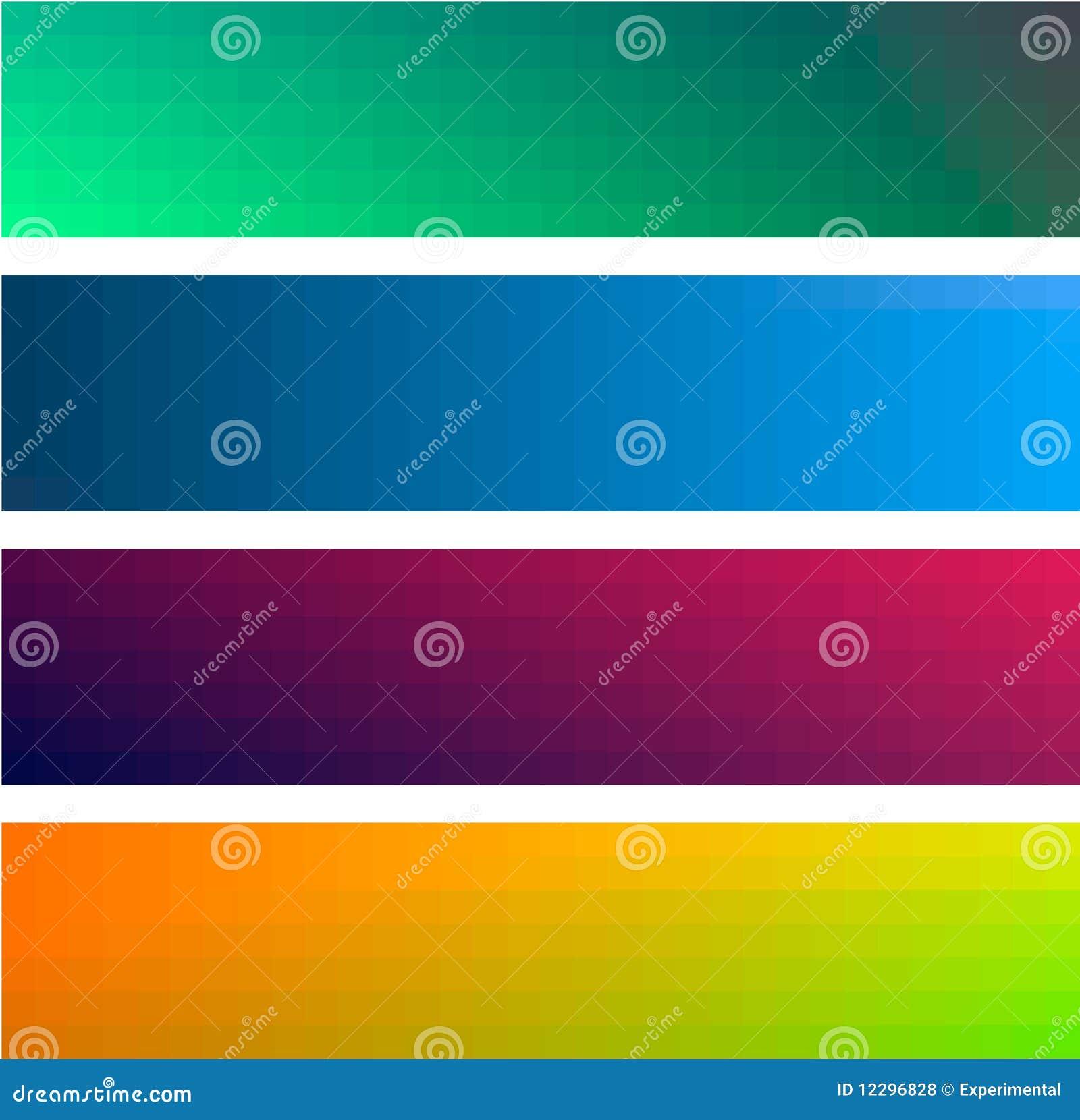 Fundos das bandeiras da cor do inclinação