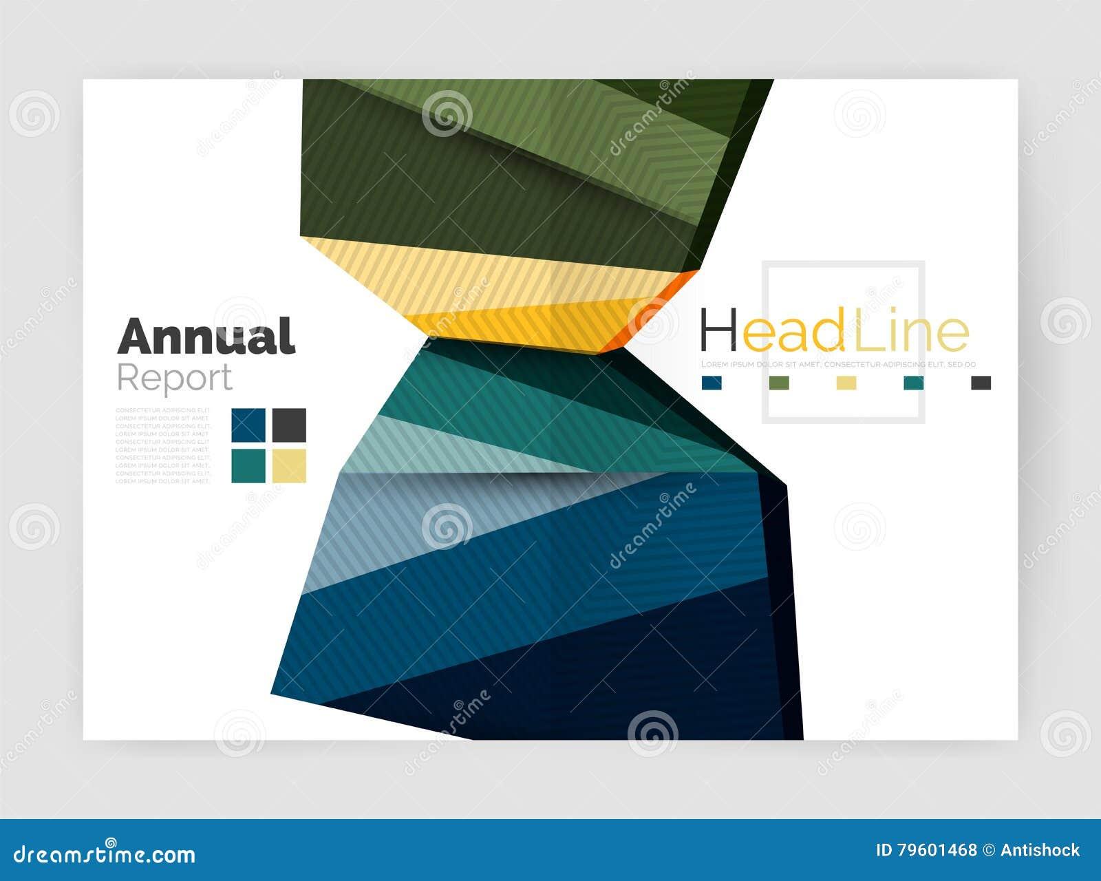 Fundos do sumário do informe anual do negócio