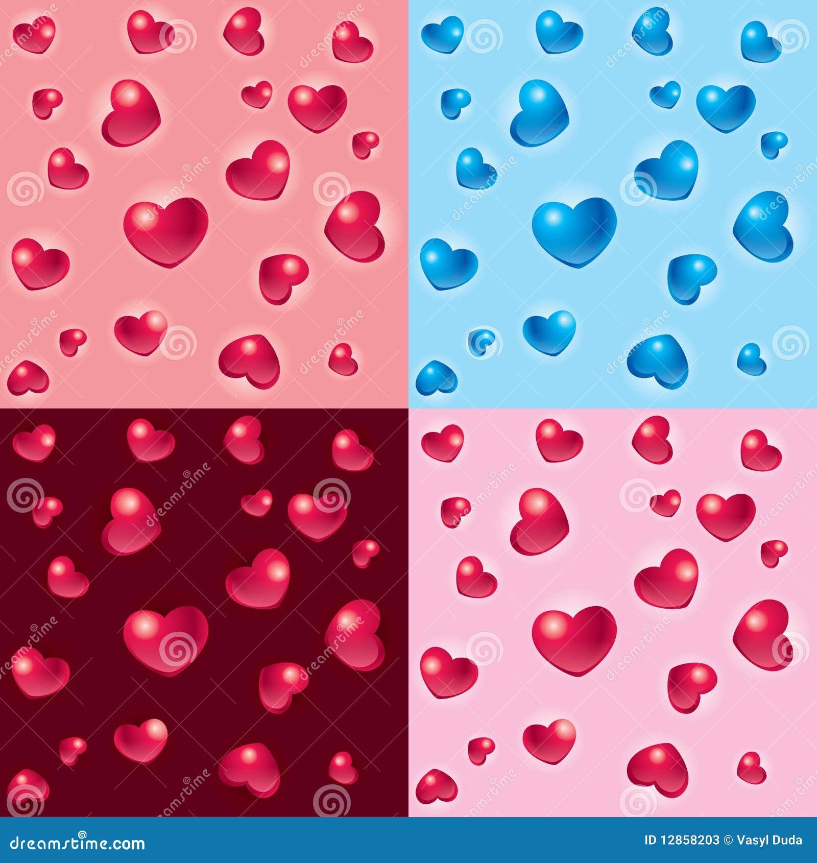 Fundos dos corações do Valentim 3D