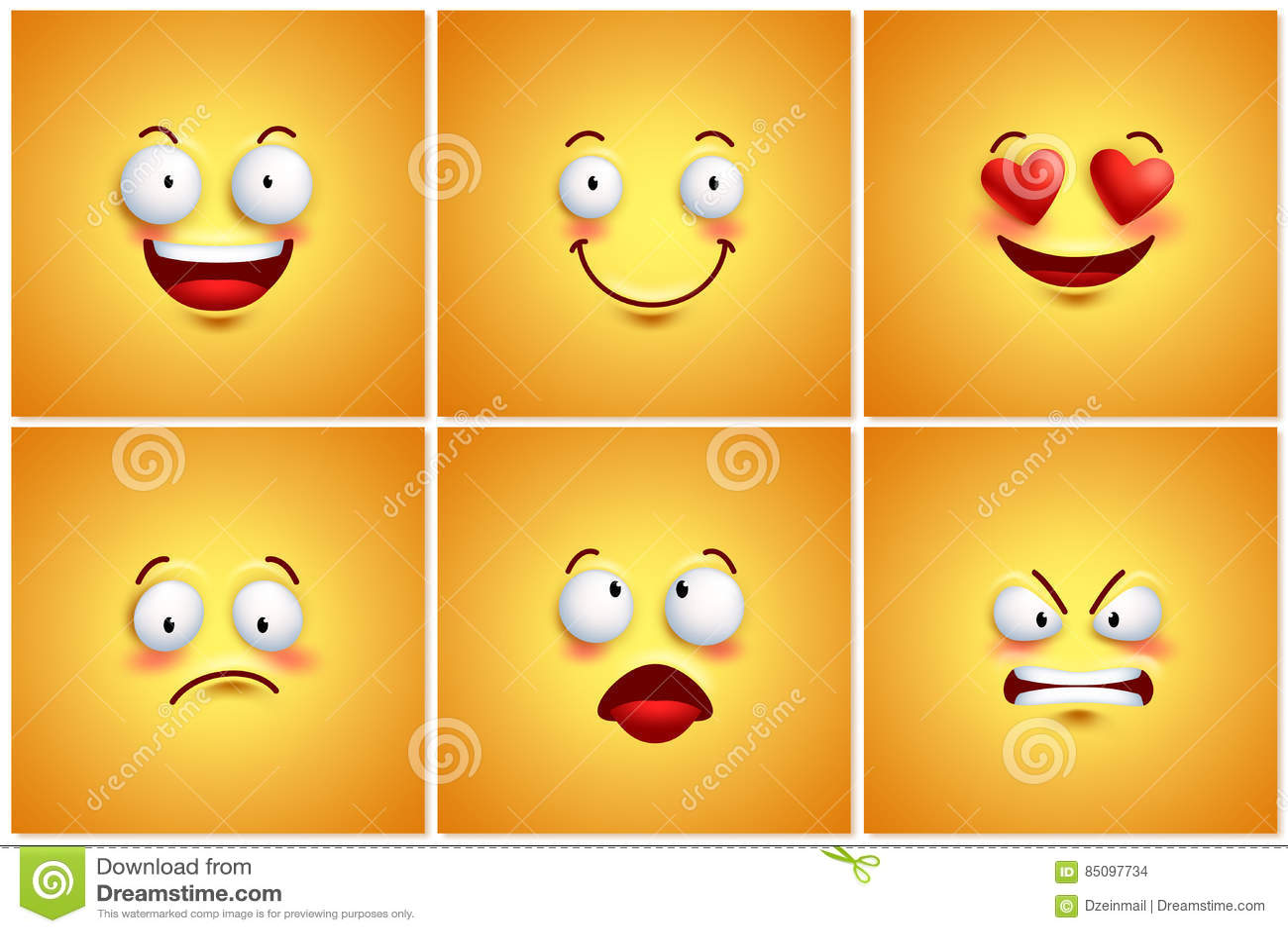 Fundos Engracados Do Papel De Parede Do Cartaz Do Vetor Dos Smiley