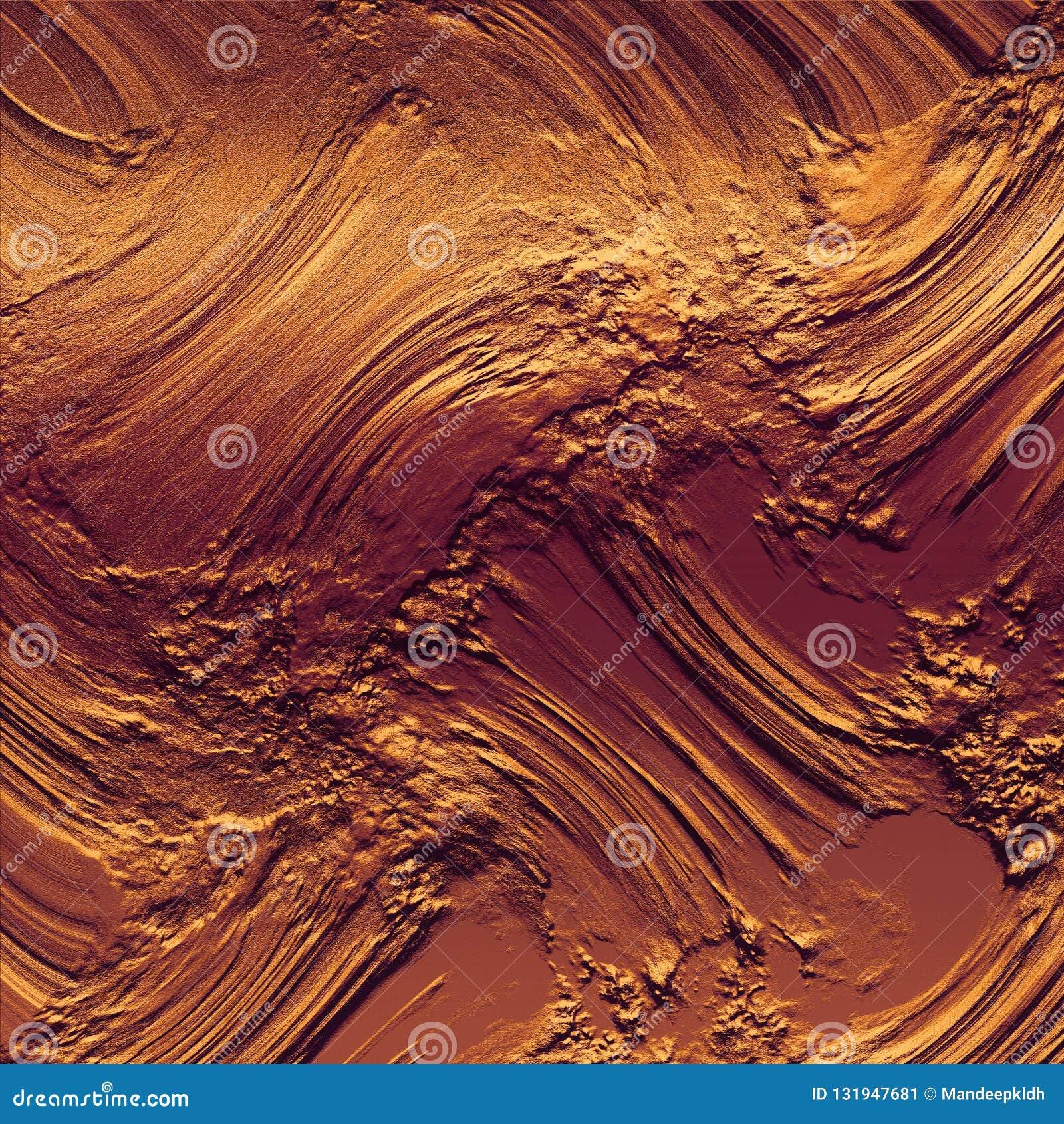 Fundos textured da lama de cobre textura 3D enlameada no fundo brilhante