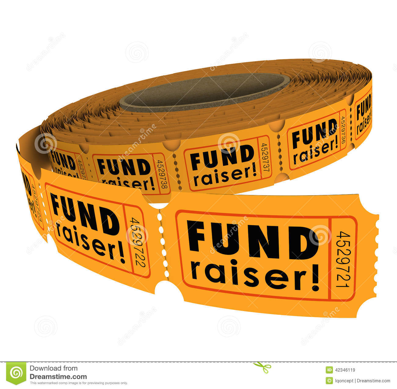 Fundraiser 50 Fifty Raffle Ticket Roll Charity Event Raising Mon Stock ...