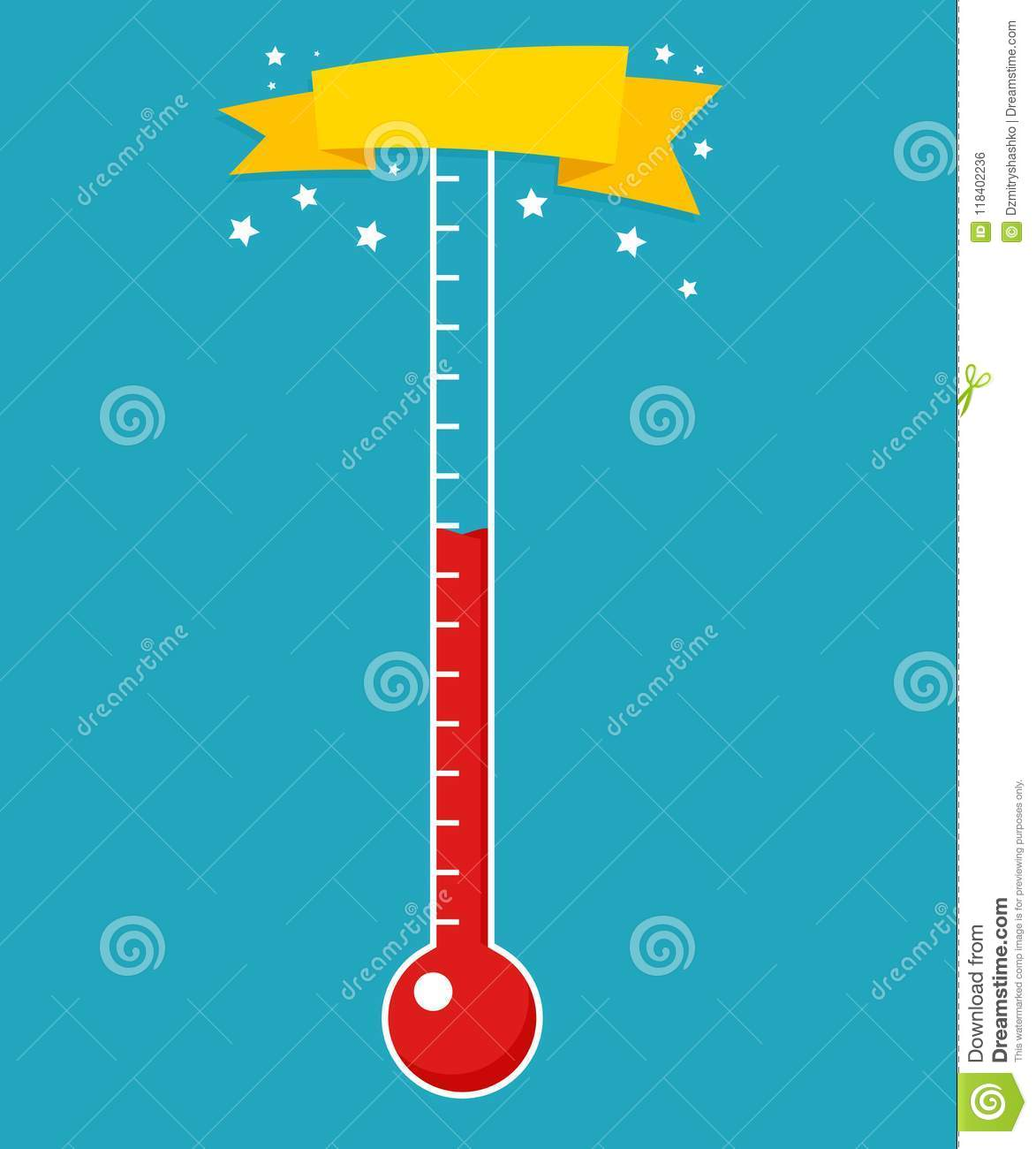 Fundraising Thermometer Template Stock Vector - Illustration of ...