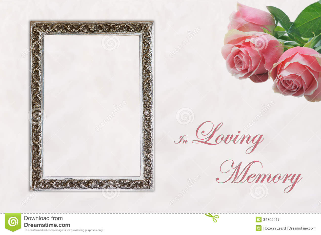 Funeral Programme Template Stock Photos - Image: 27718863