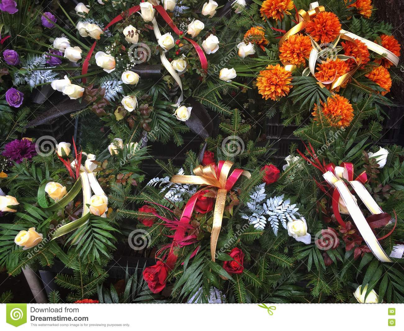 Funeral flowers stock photo image of chrysanthemum polish 81978932 funeral flowers izmirmasajfo