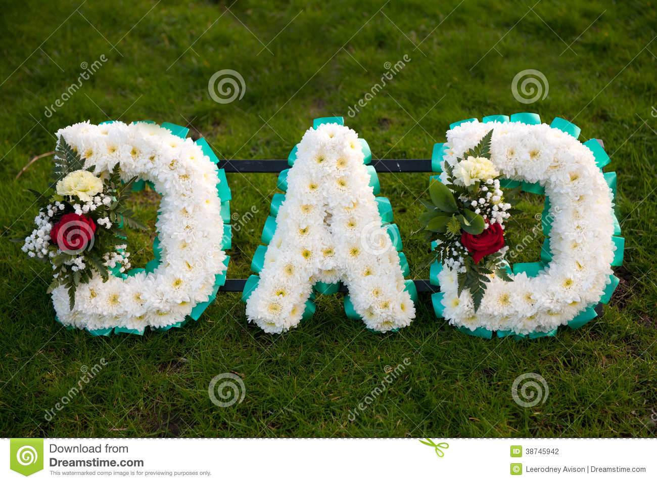 Funeral flowers tribute dad stock photo image of daddy graveside funeral flowers tribute dad izmirmasajfo
