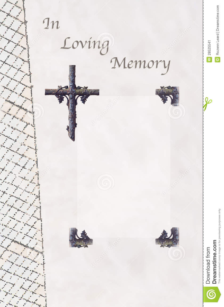 Funeral guest book stock image image 28525541 for In loving memory templates