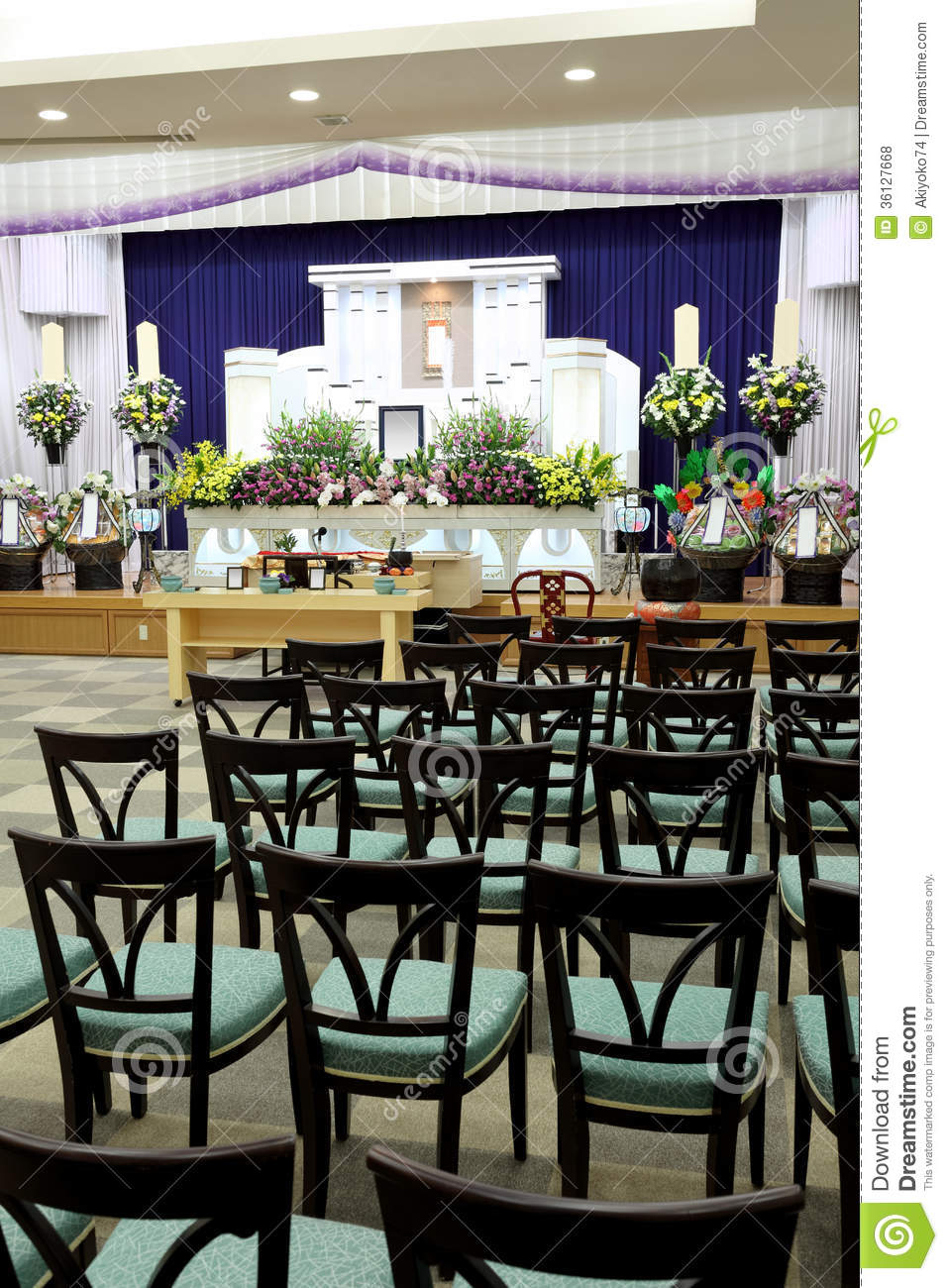 Funeral Home Interior Colors: Funeral Home Stock Photo. Image Of Entomb, Death, Burial